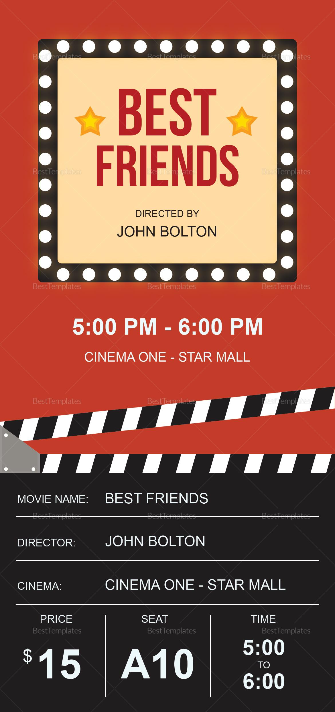 Movie Ticket to Edit