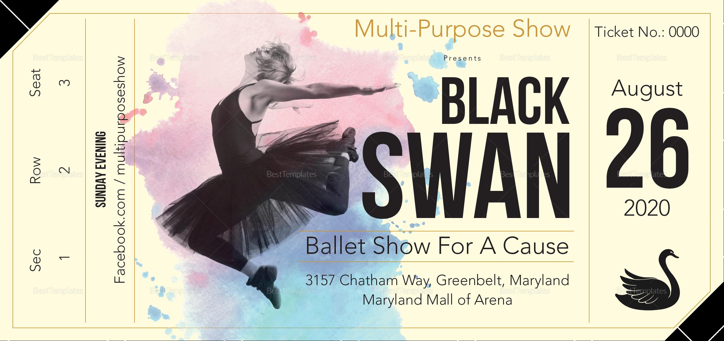 Multi-Purpose Show Ticket to Edit
