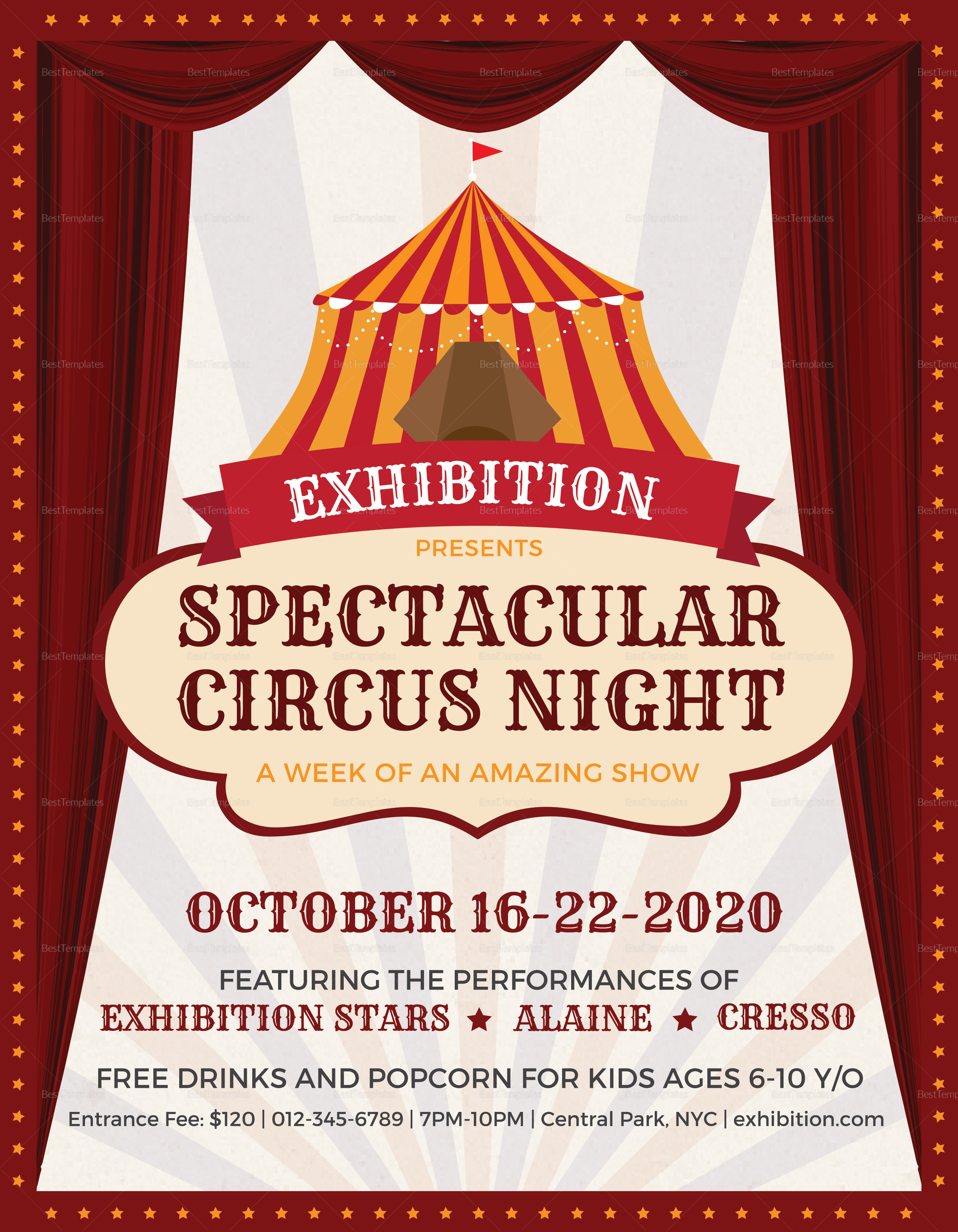 Spectacular Circus Night Flyer