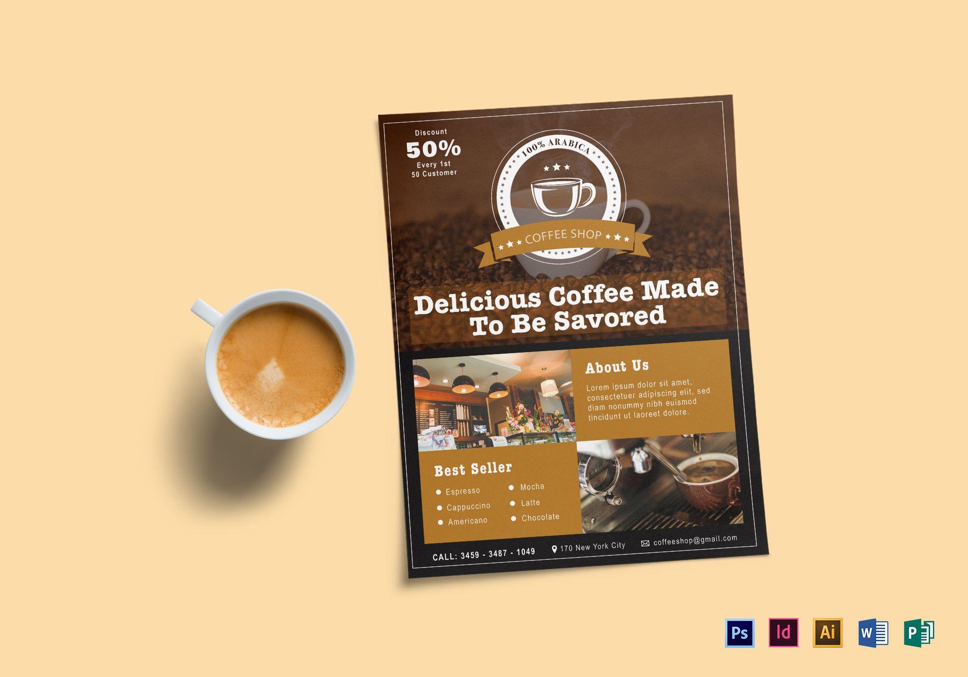 Delicious Coffee Shop Flyer
