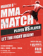 Simple MMA Match Flyer