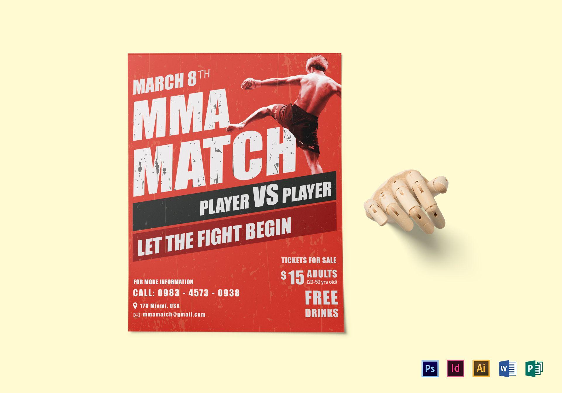 MMA Match Flyer