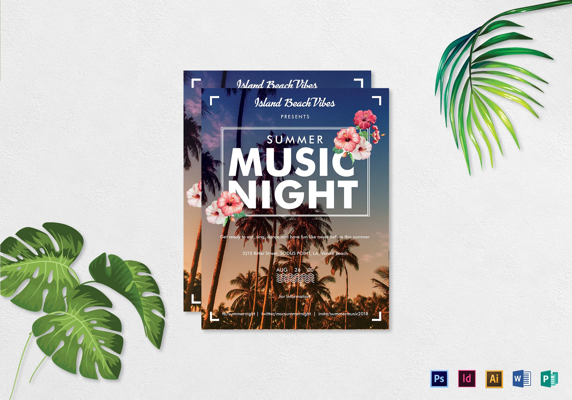 Summer Music Night Flyer
