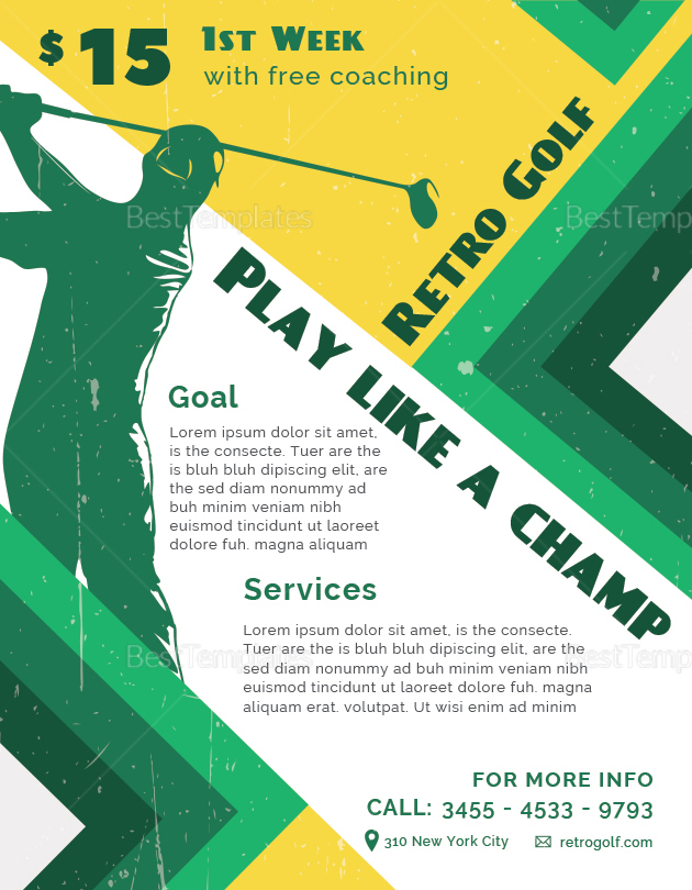 Retro Golf Flyer to Print