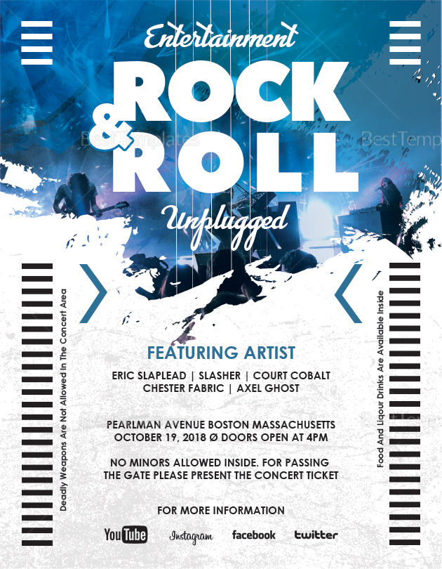 Simple Rock and Roll Flyer