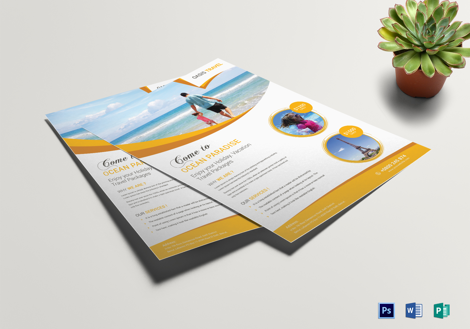 Vacation Travel Flyer Template