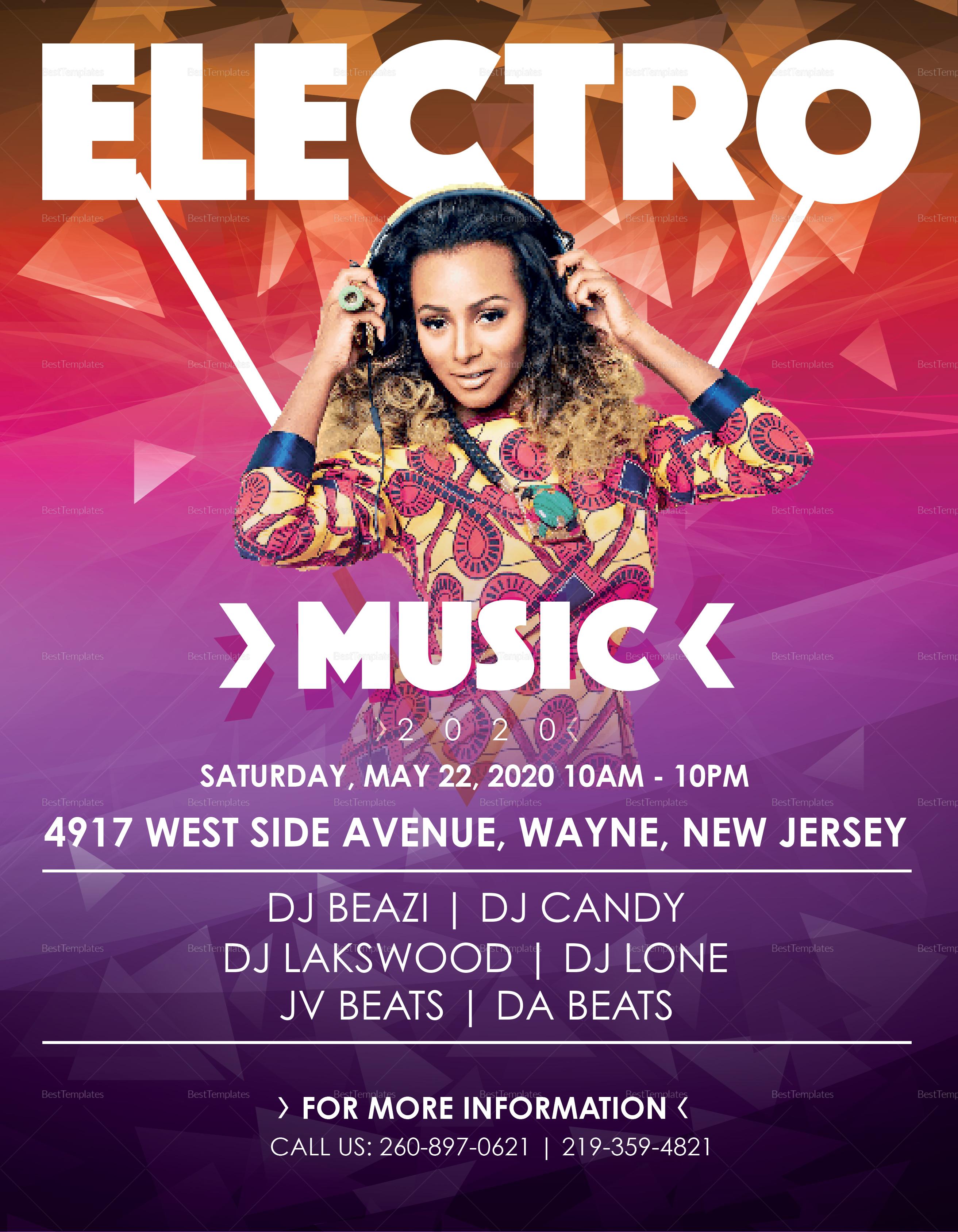 Sample Electronic Music Flyer