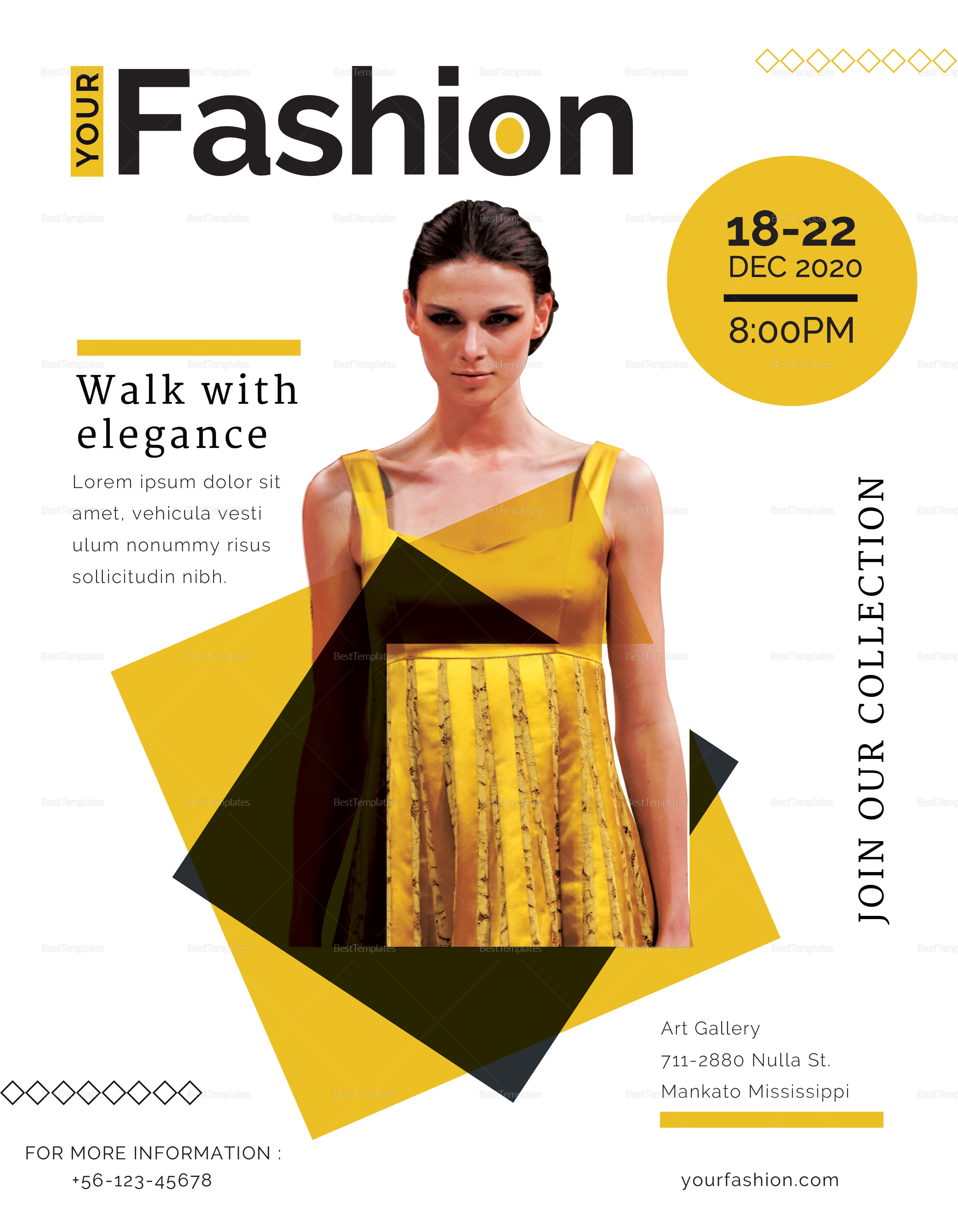 Fashion Gallery Flyer to Edit