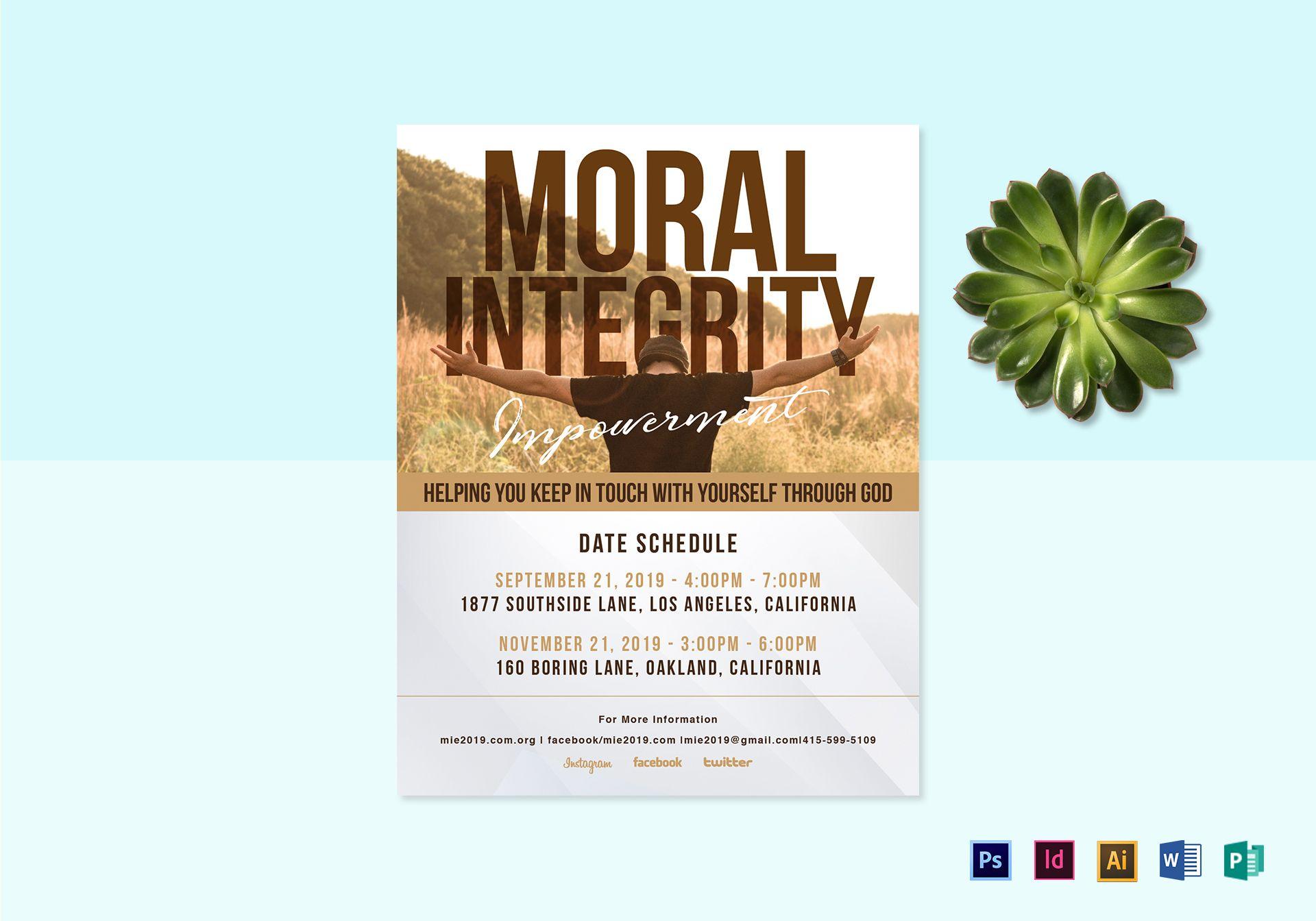 Moral Integrity Flyer