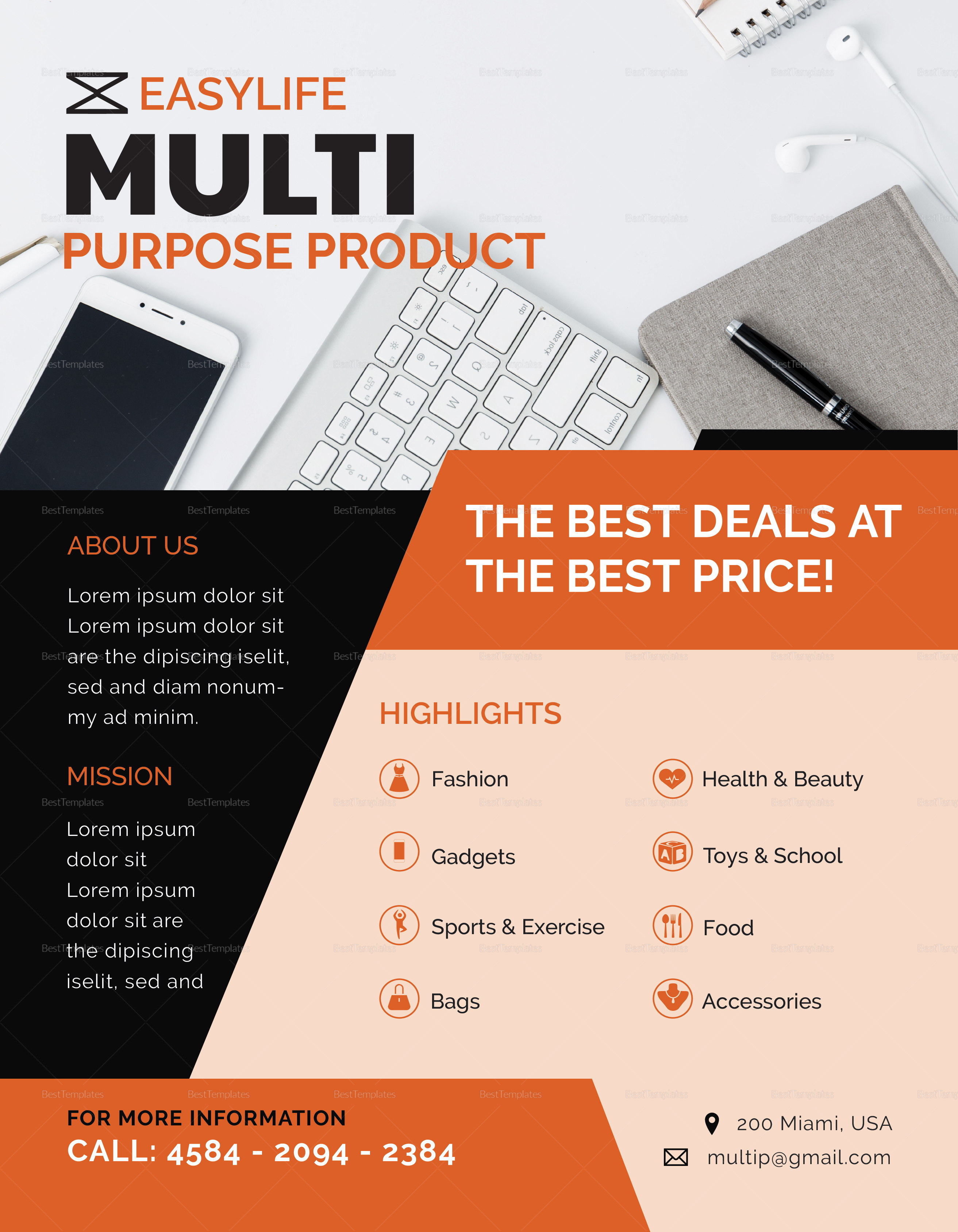 Multi Purpose Product Flyer to Edit