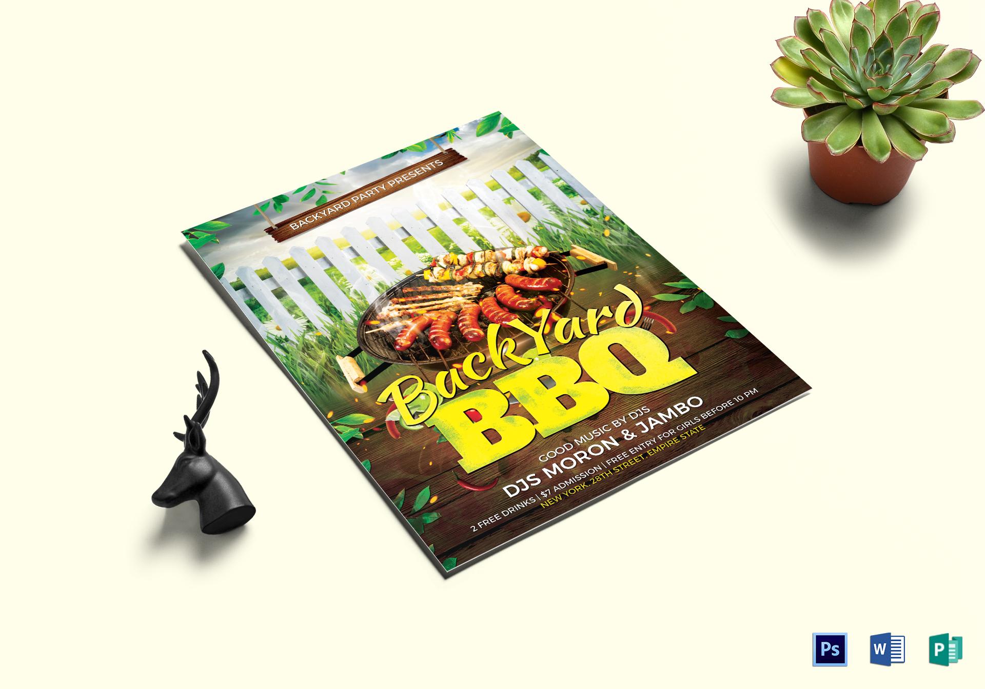 Backyard BBQ Flyer