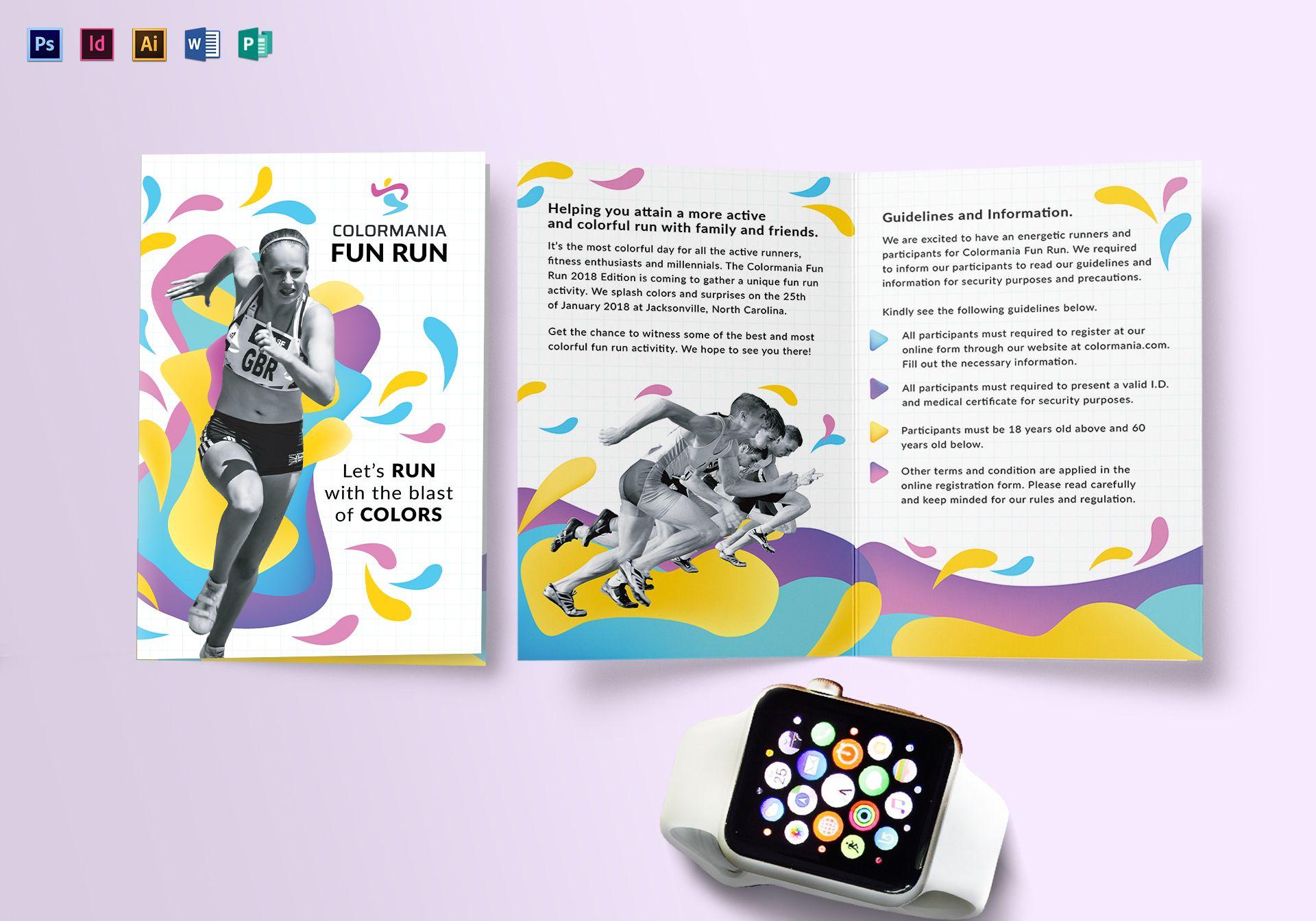 Bi Fold Abstract Brochure