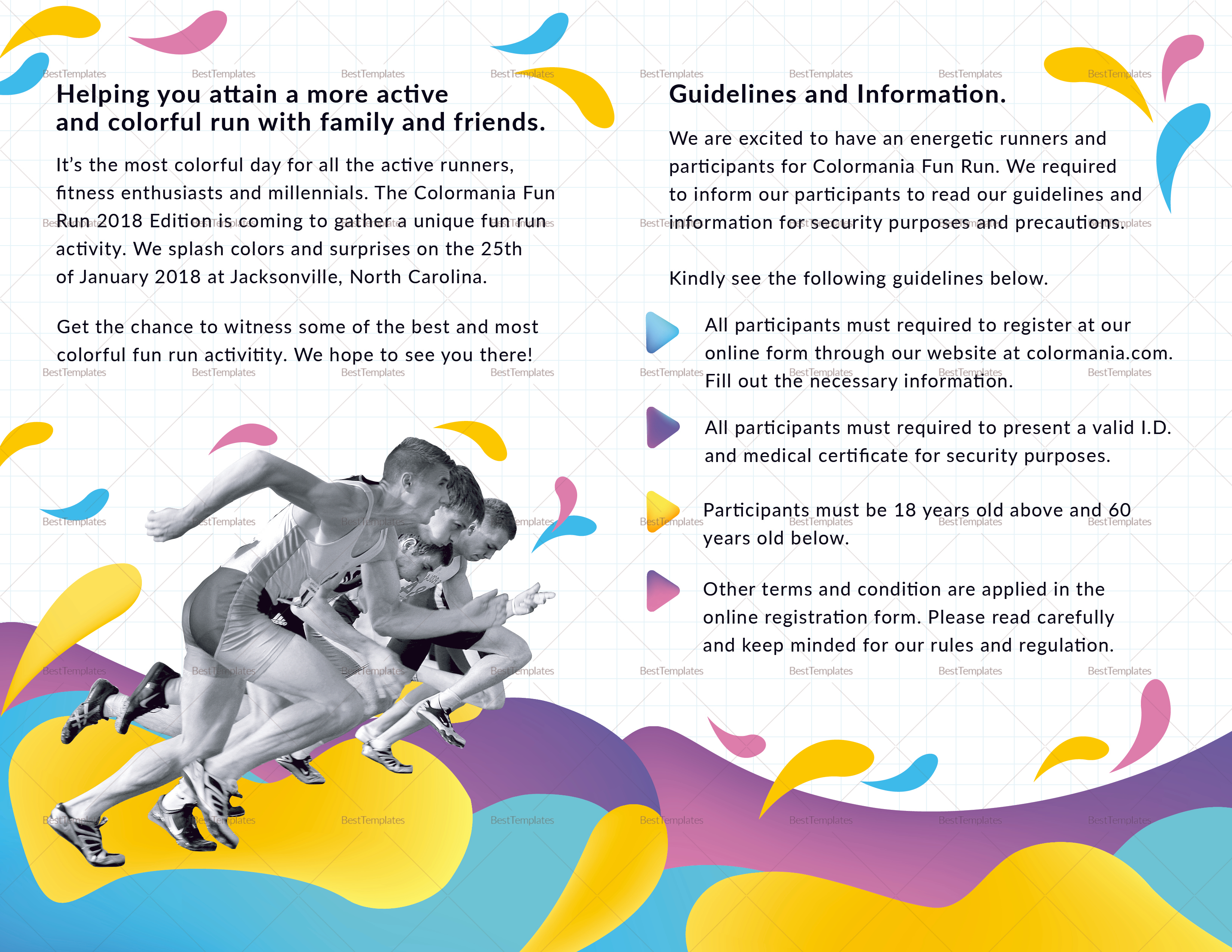 Bi Fold Abstract Brochure to Print