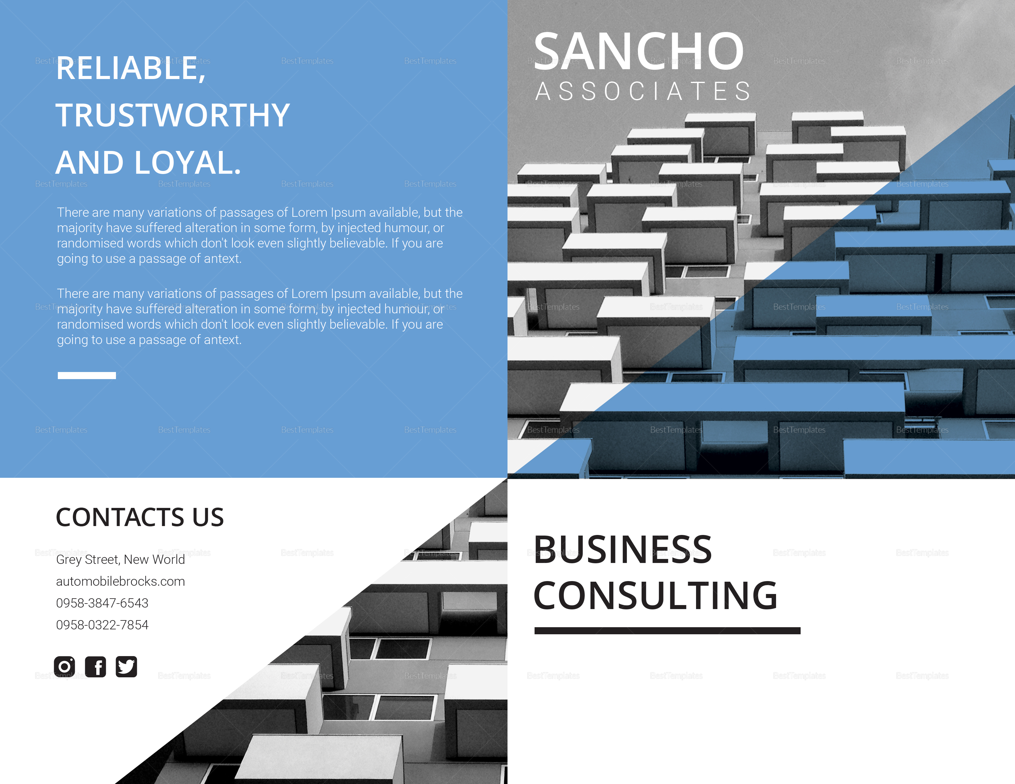 Simple Business Consulting Bi fold Brochure