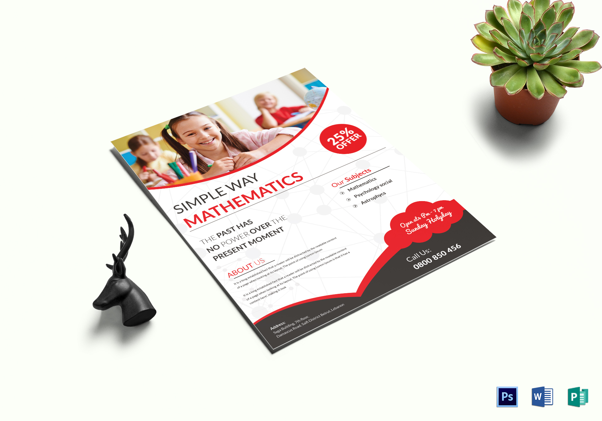 simple math tutoring flyer template