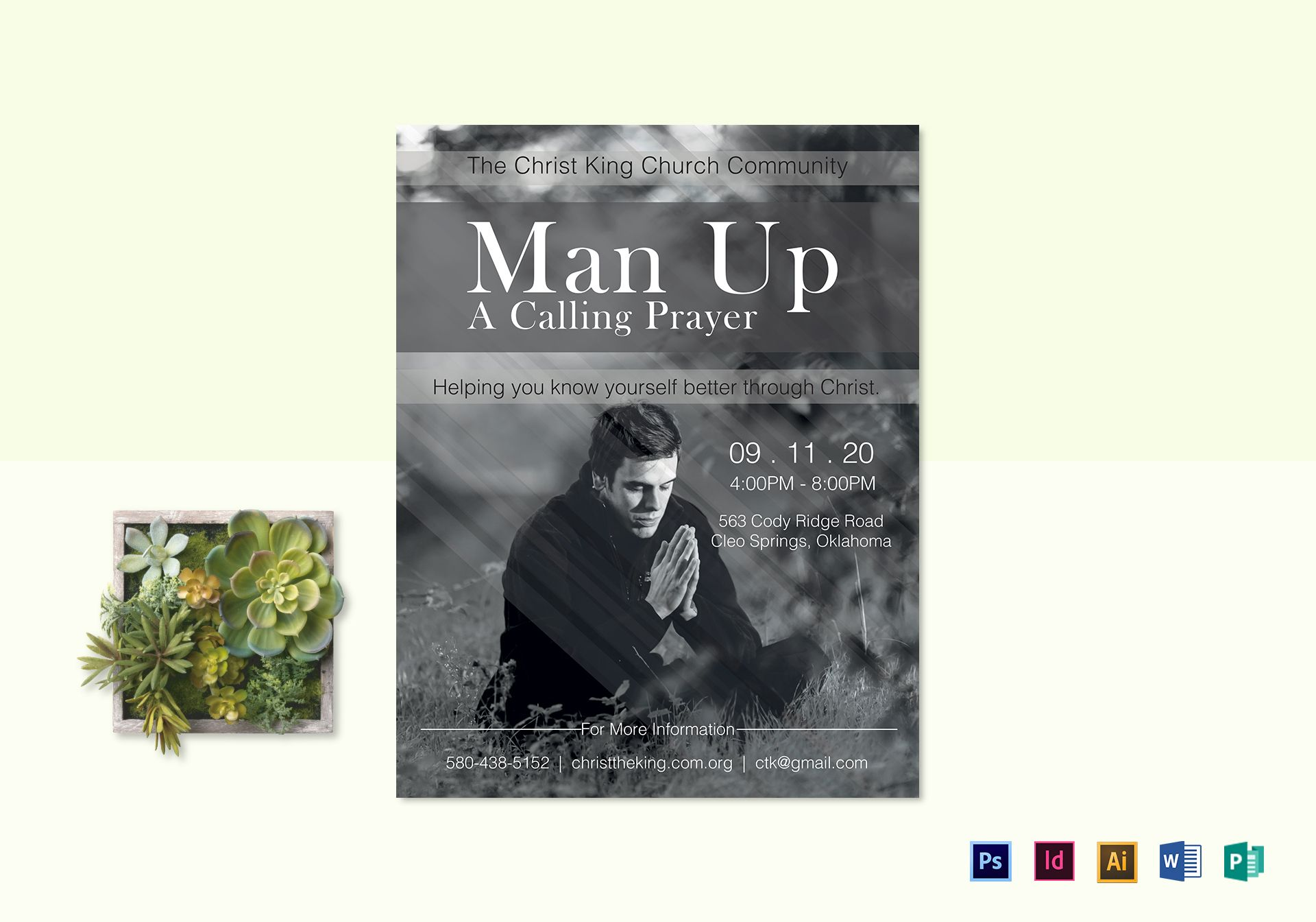 Man Up Church Flyer