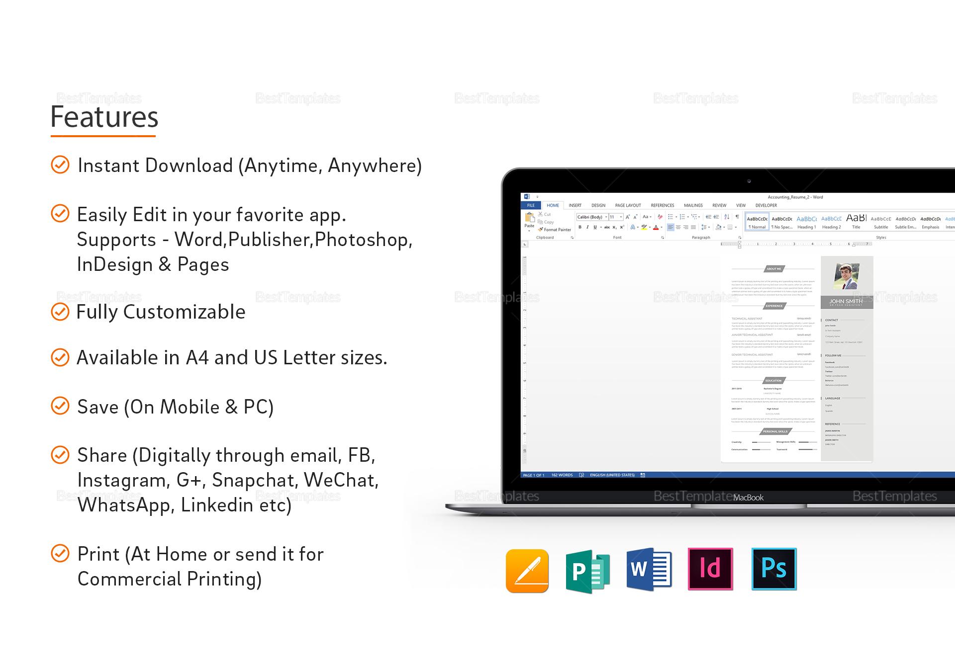 Minimal BPO Resume Template