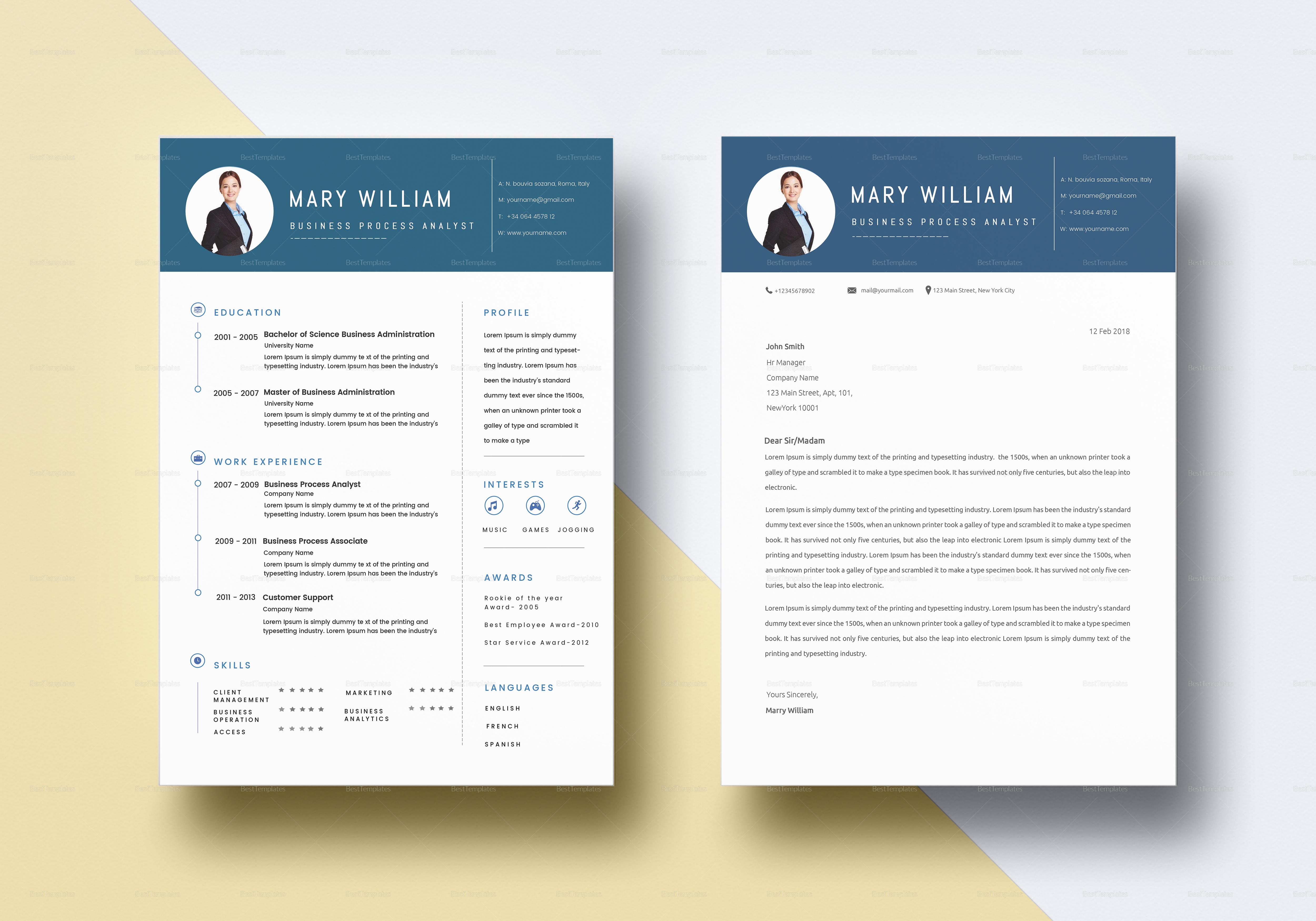 Blue Timeline BPO Resume