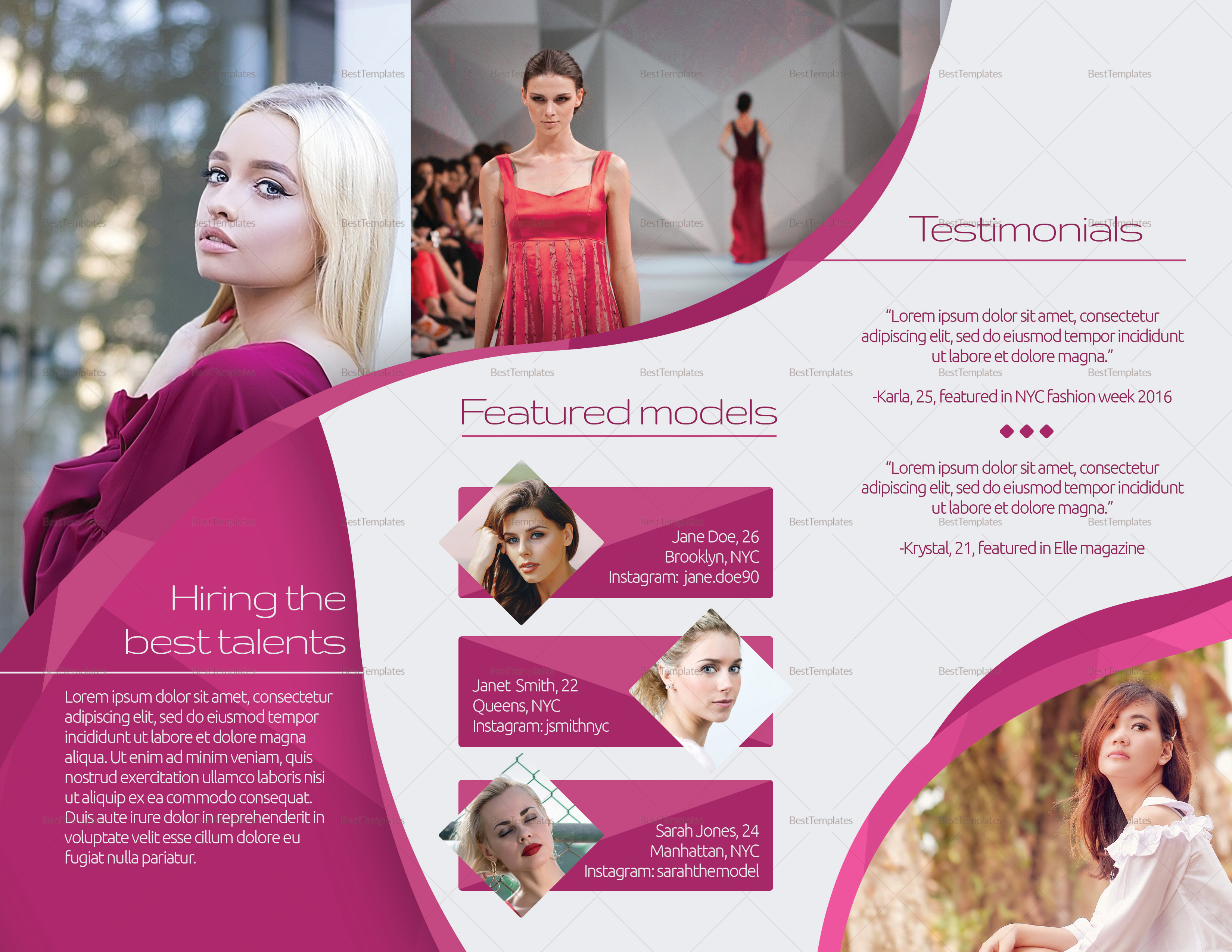 Creative Modelling Agency Brochure to Print