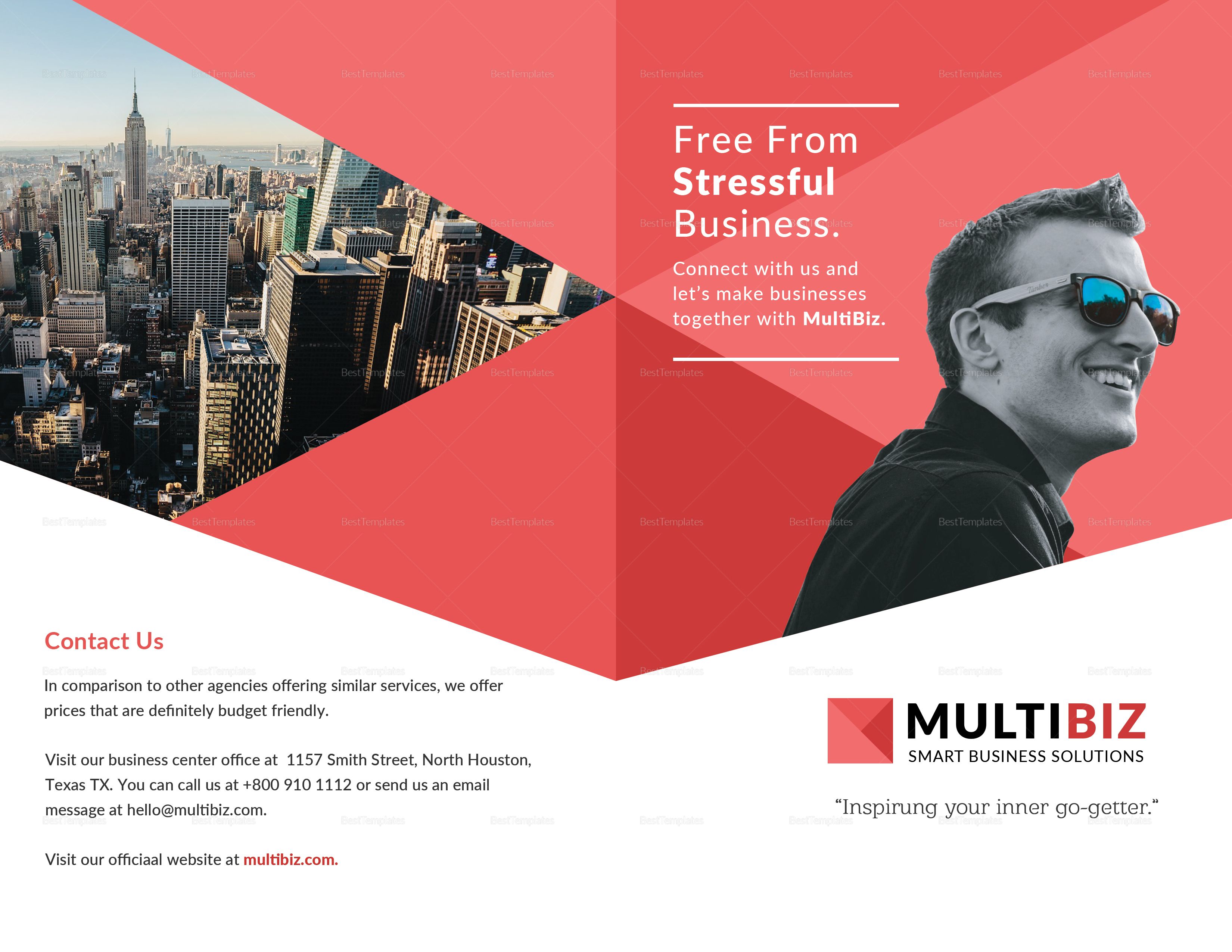 Multipurpose Business Bi-fold Brochure Template