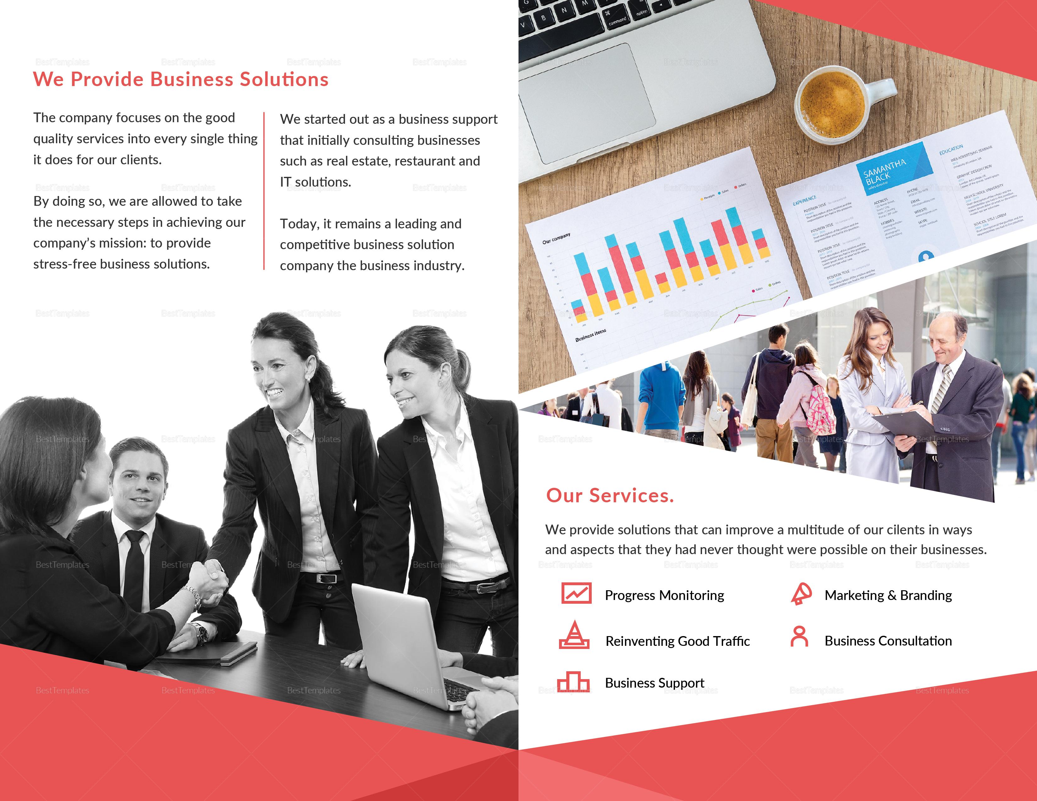 Sample Multipurpose Business Bi-fold Brochure