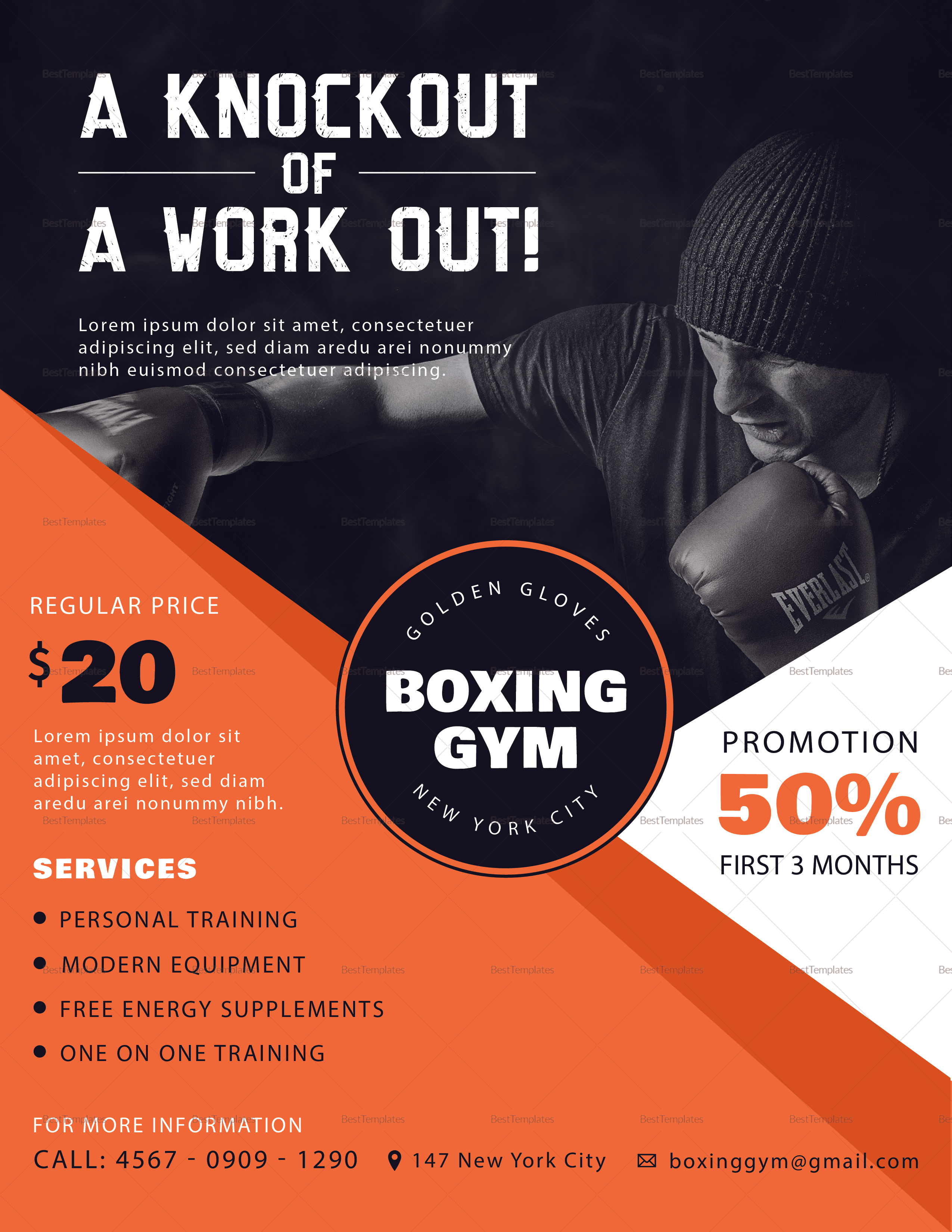 Sample Boxing Gym Flyer
