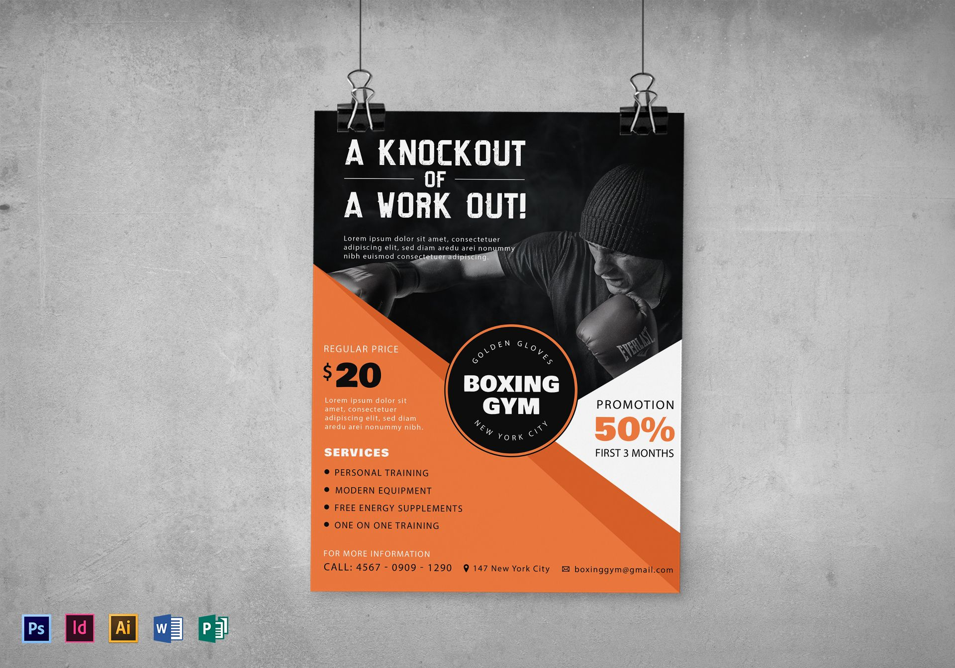 Boxing Gym Flyer