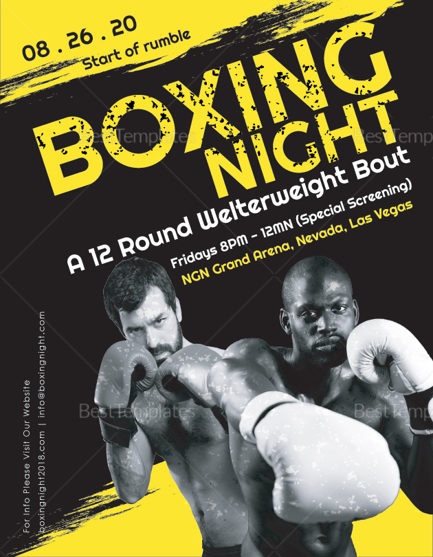 Boxing Night Flyer to Edit