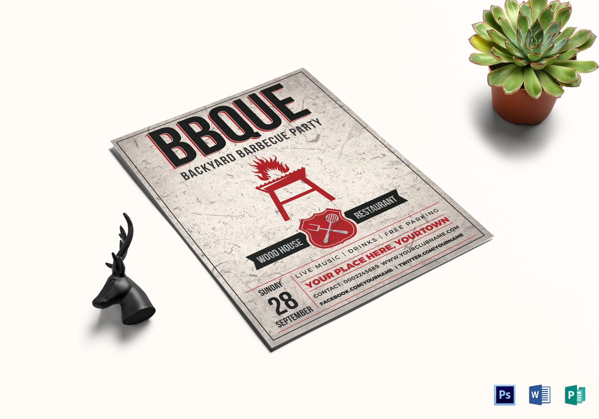 Backyard BBQ Event Flyer
