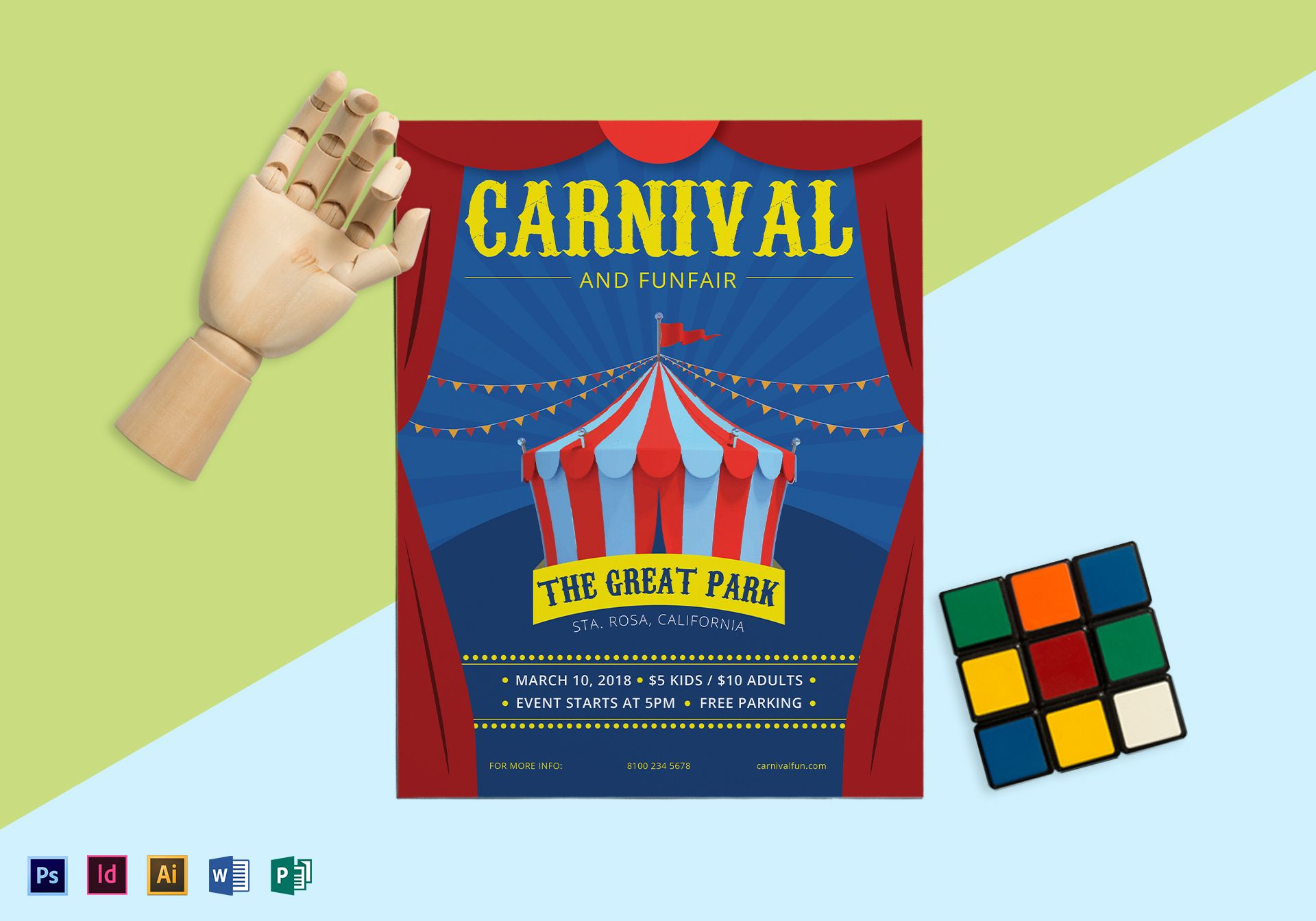 Carnival and Funfair Flyer