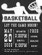 Chalkboard Style Basketball Flyer Template