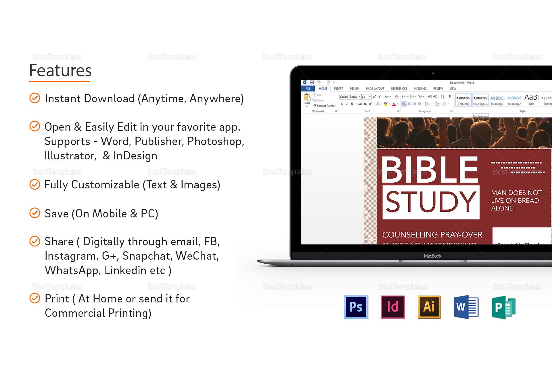 Simple Bible Study Flyer