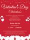 Valentine Day Celebrations Flyer Template