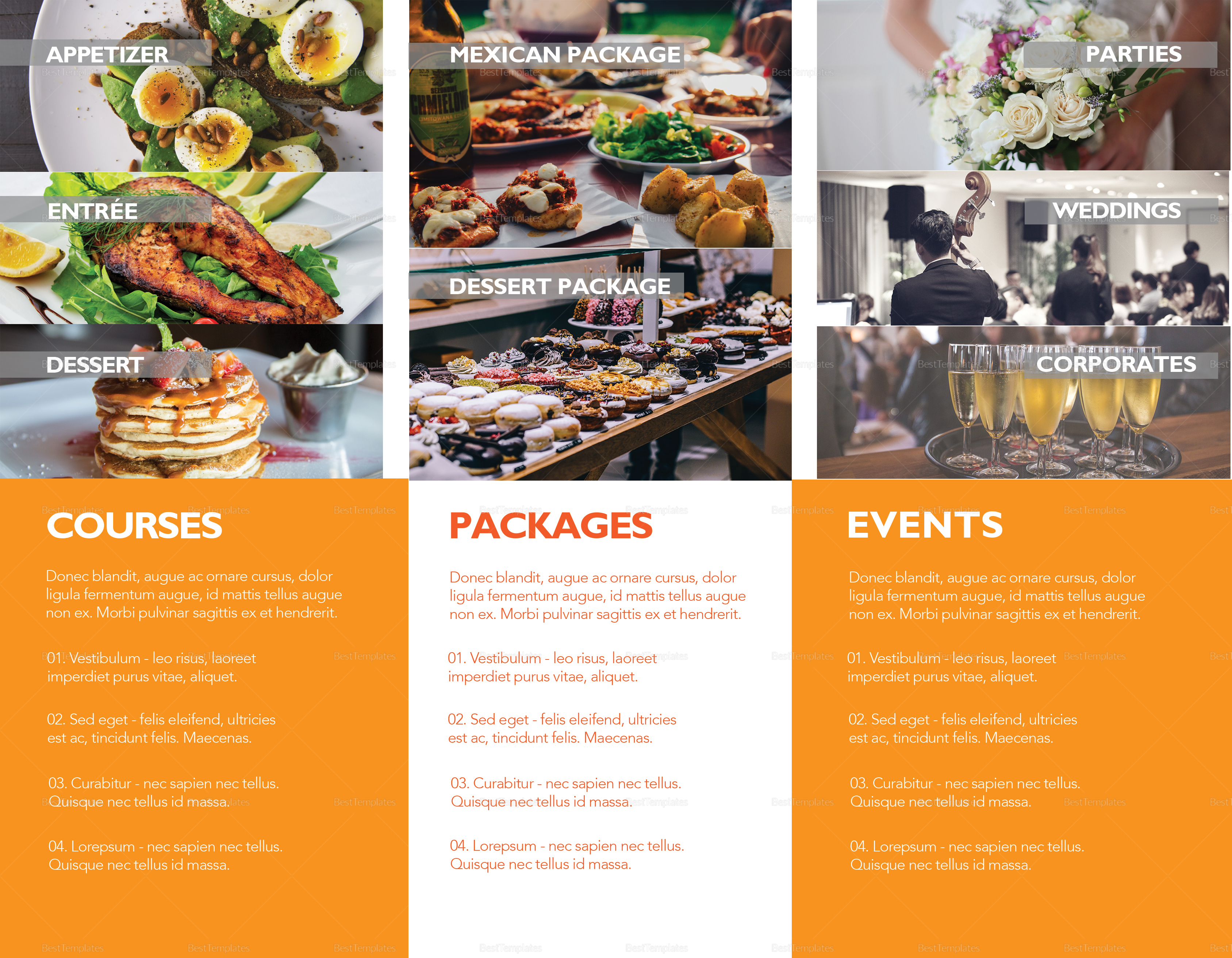 Simple Catering Service Brochure