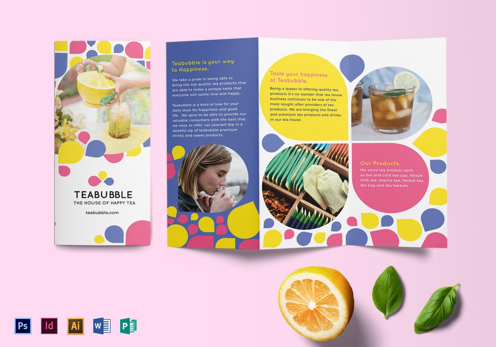 Tri-fold Circle Design Brochure