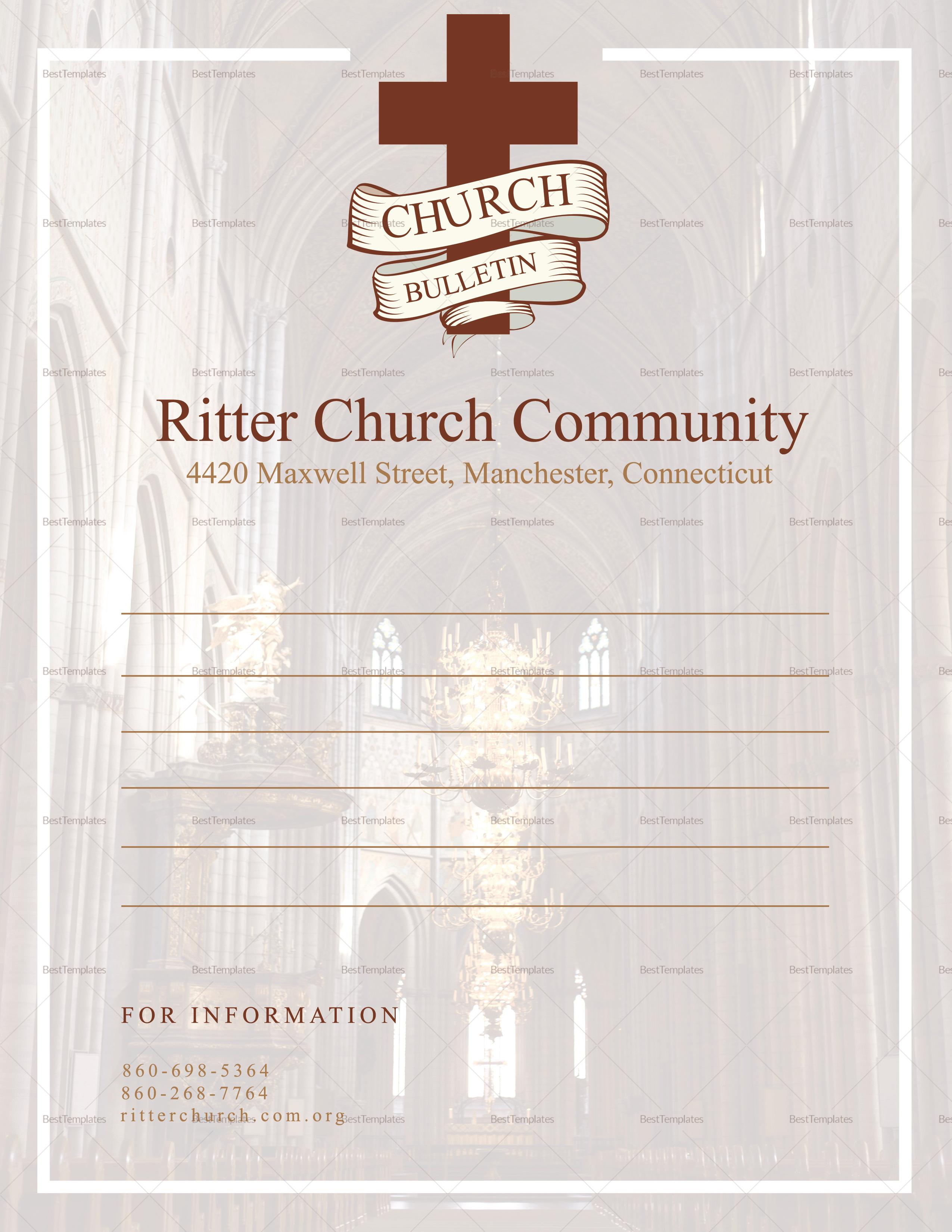 Church Bulletin and Connect Card Flyer