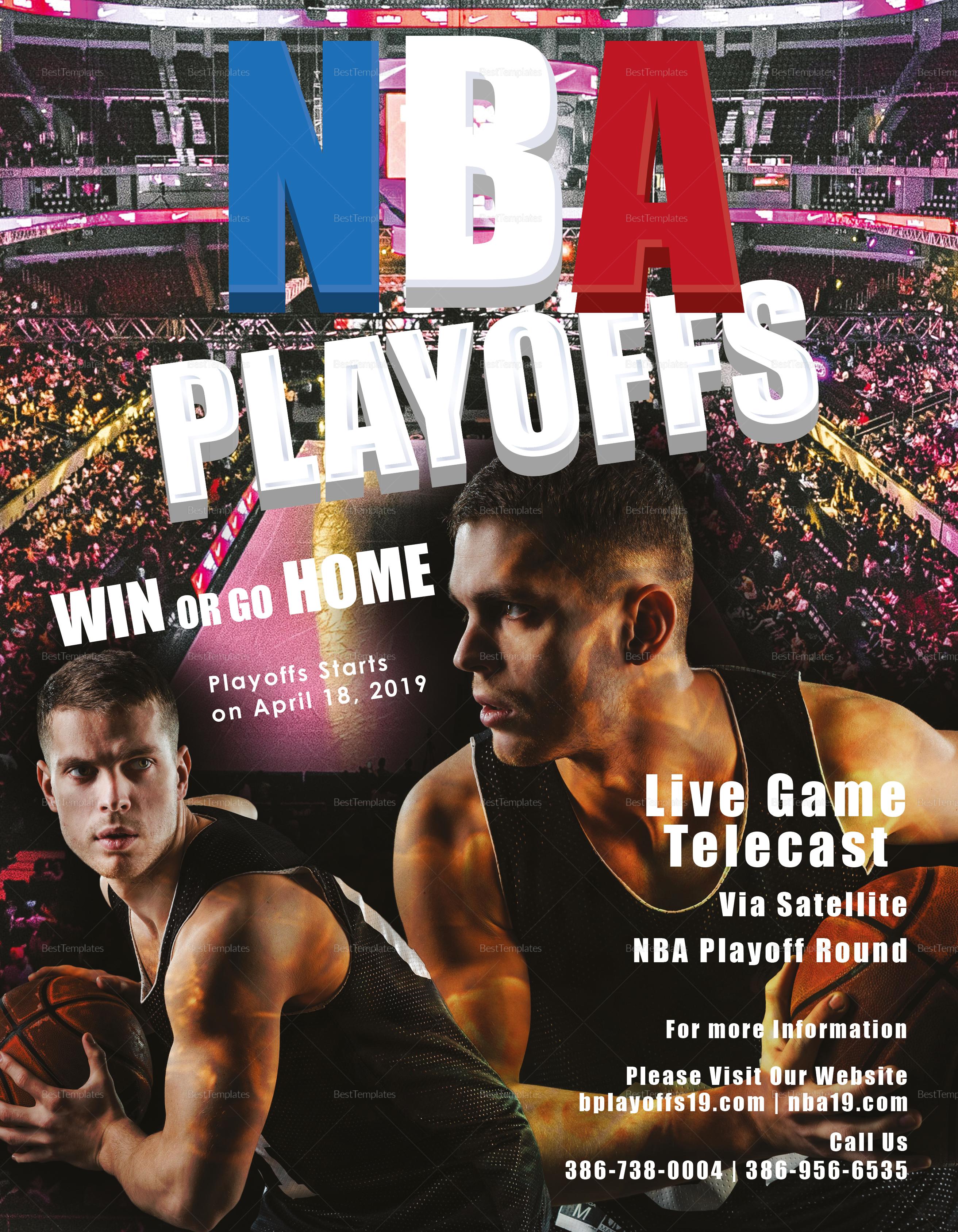Basketball Playoff Flyer