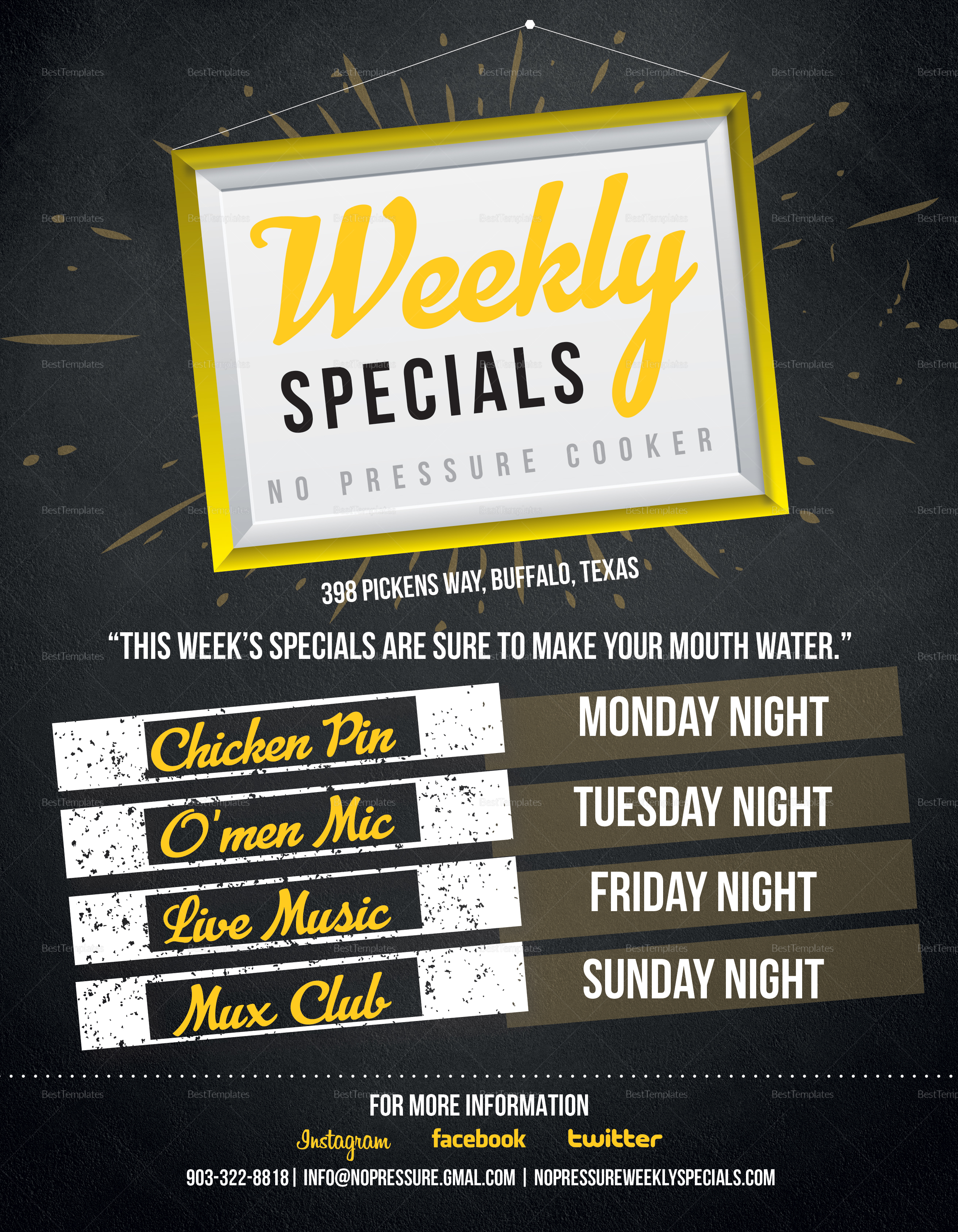Weekly Special Flyer