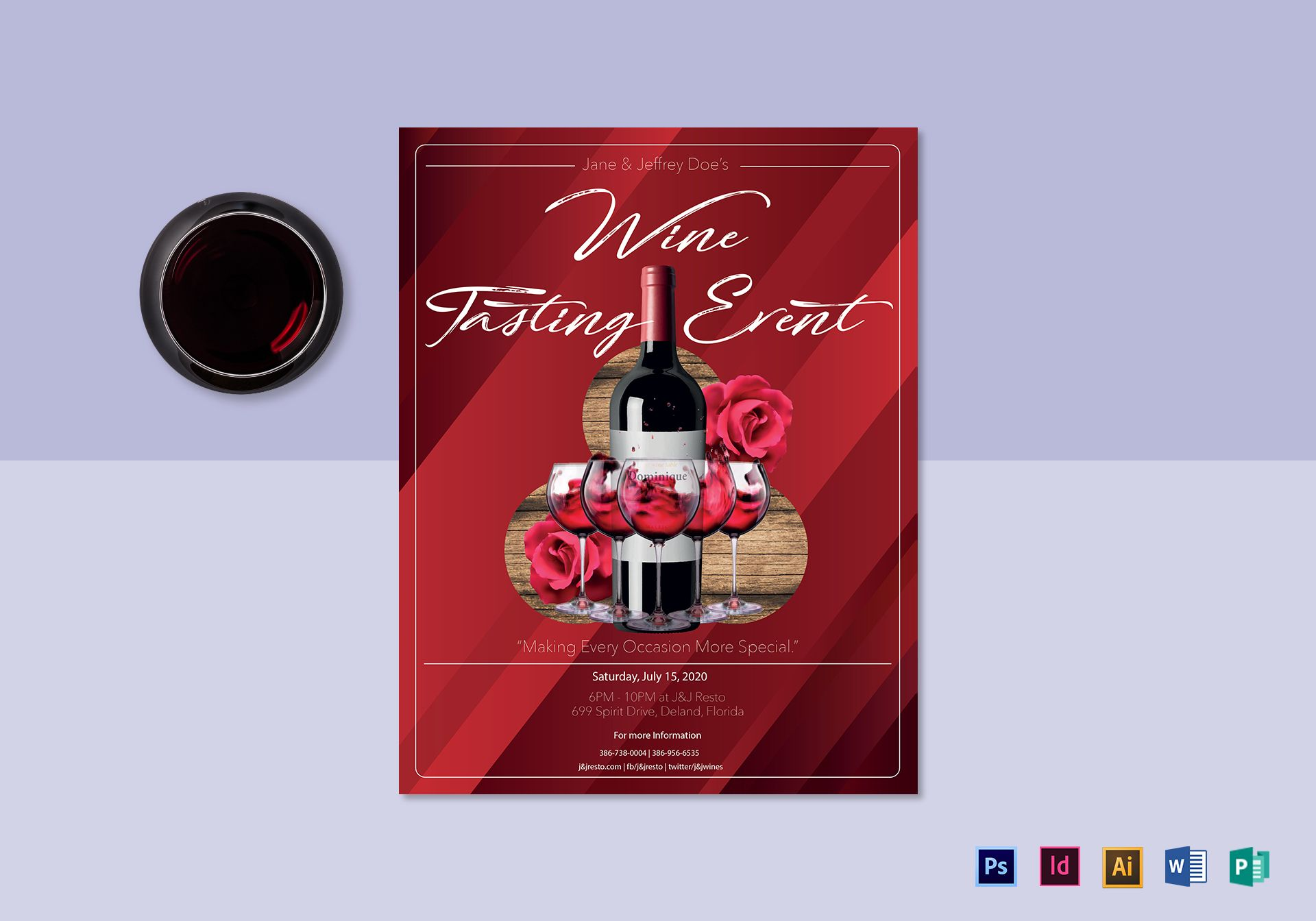 Red wine tasting flyer design template in psd word publisher red wine tasting flyer template maxwellsz