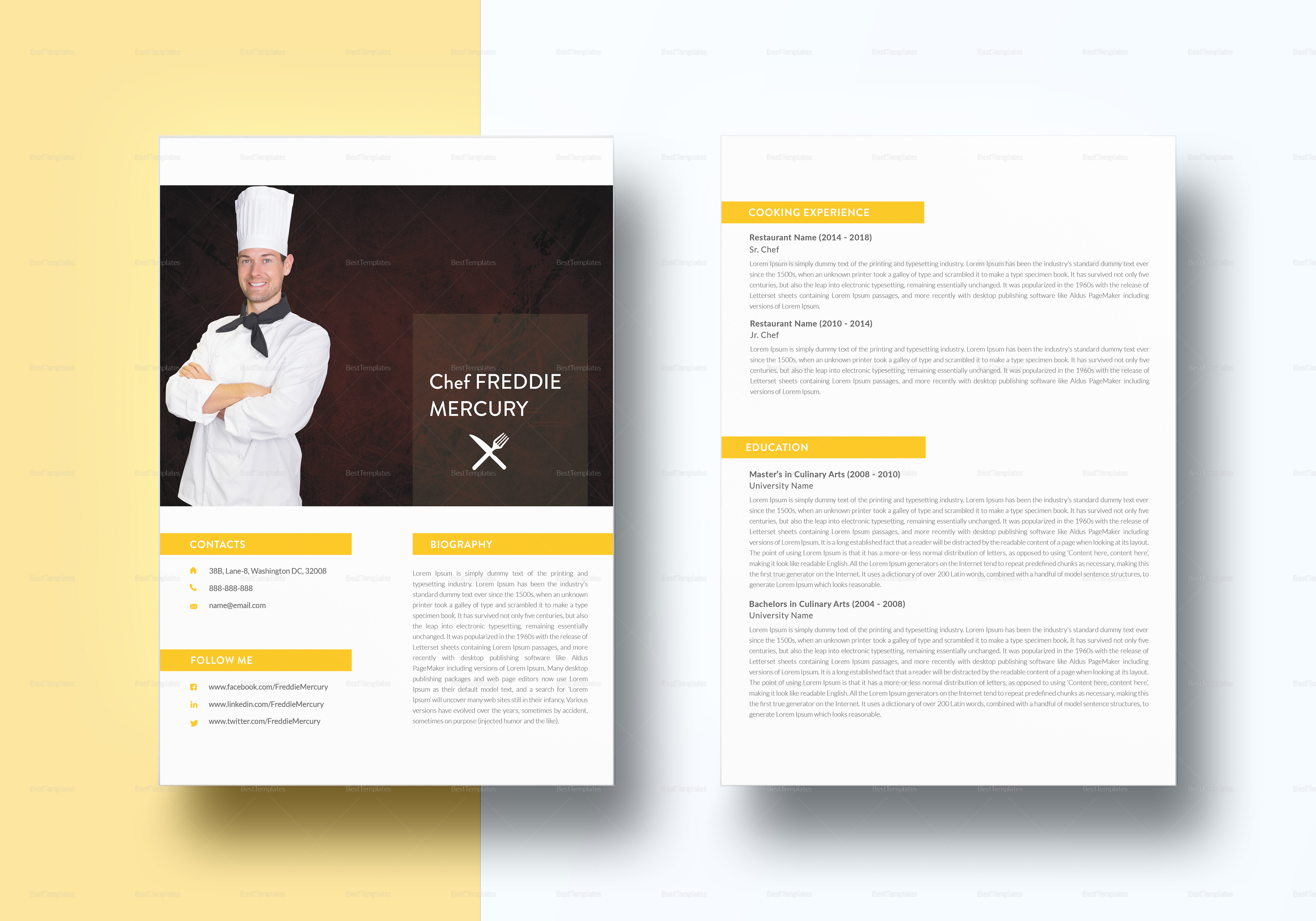 Experienced Chef Resume