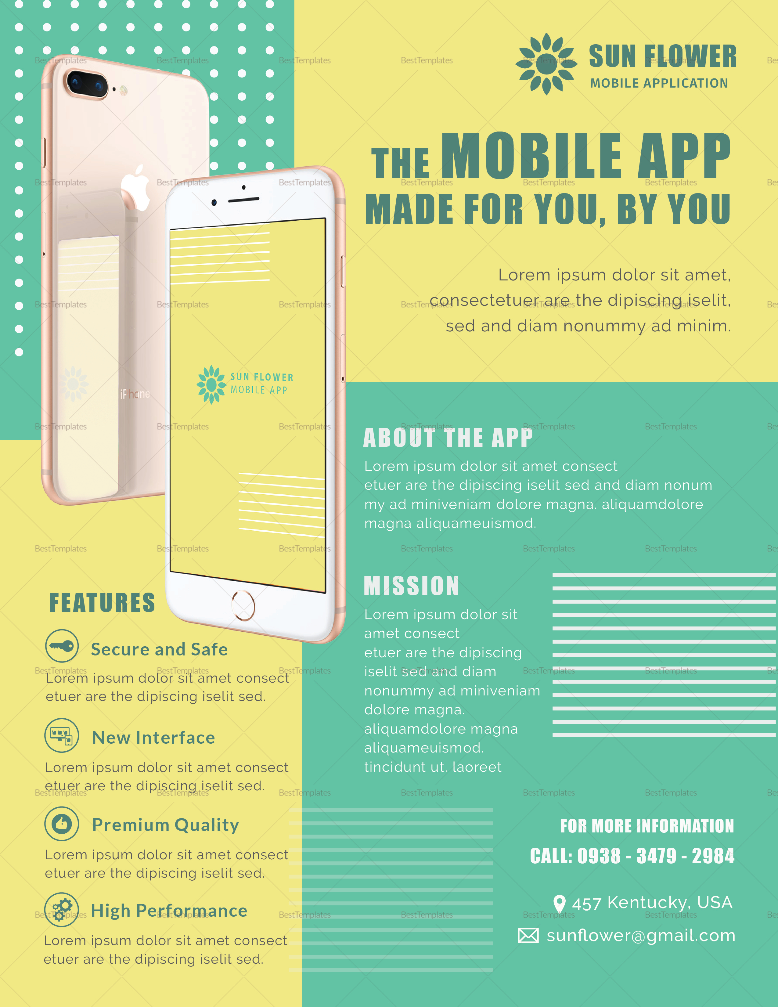 Colorful Mobile App Flyer
