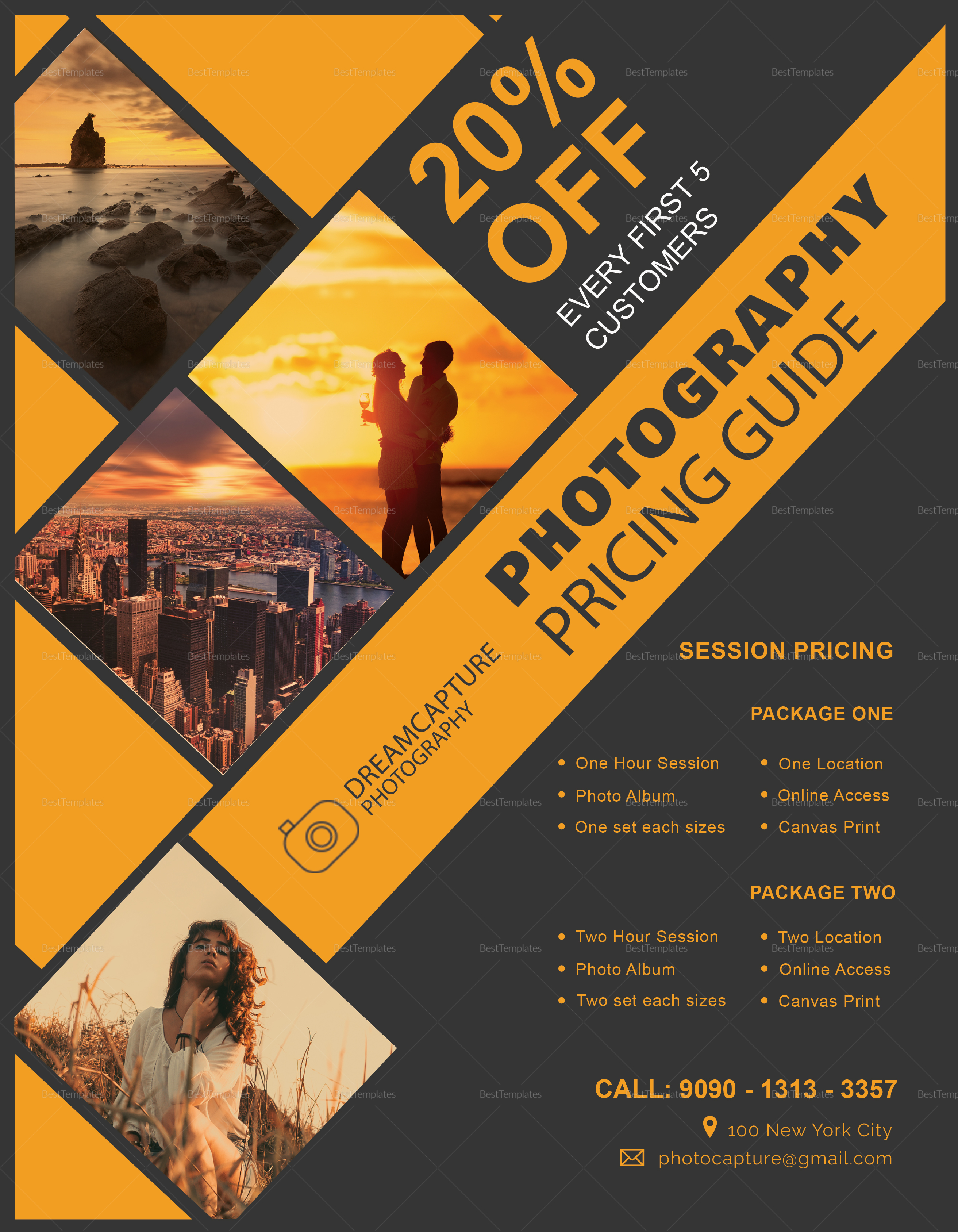 Photography Pricing Flyer