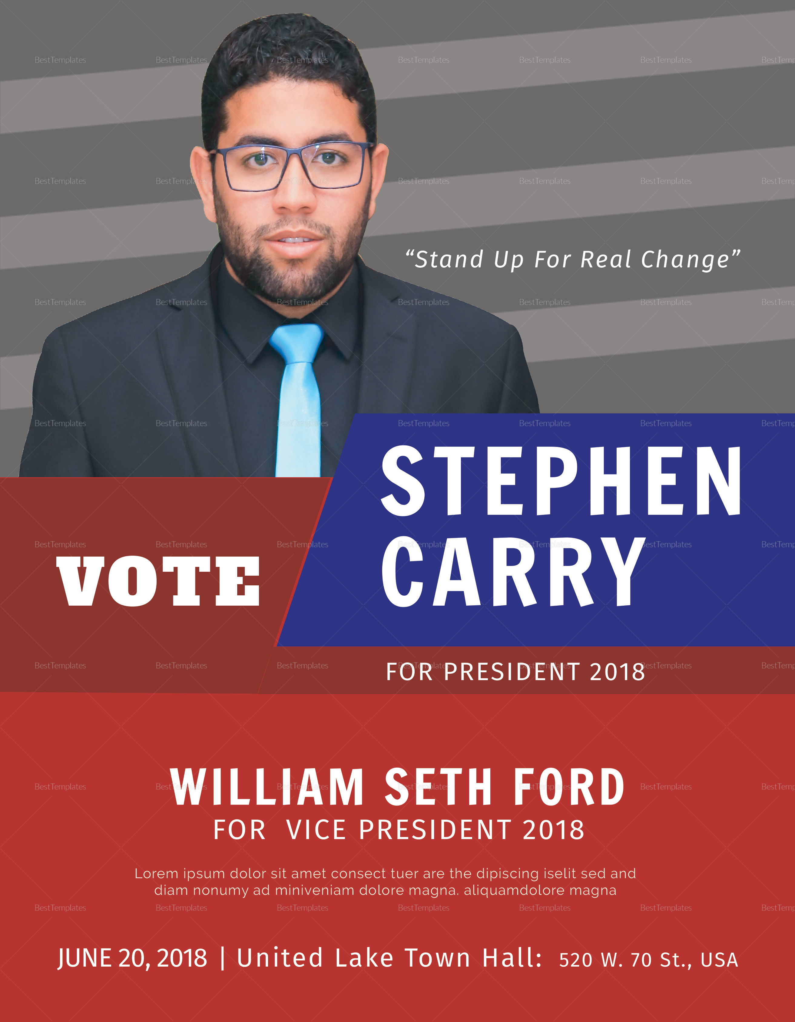 Political Candidate Flyer