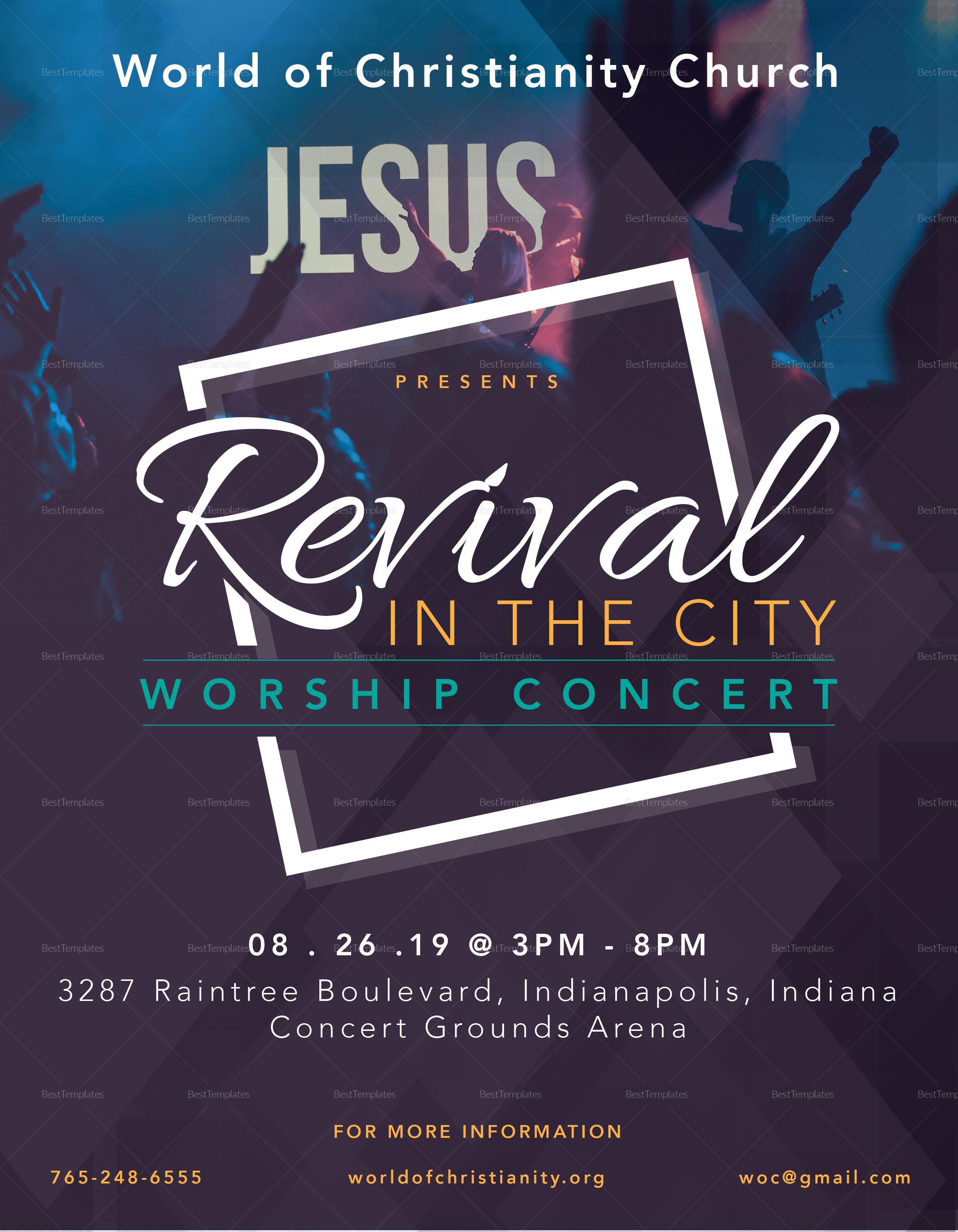 Revival Worship Concert Flyer