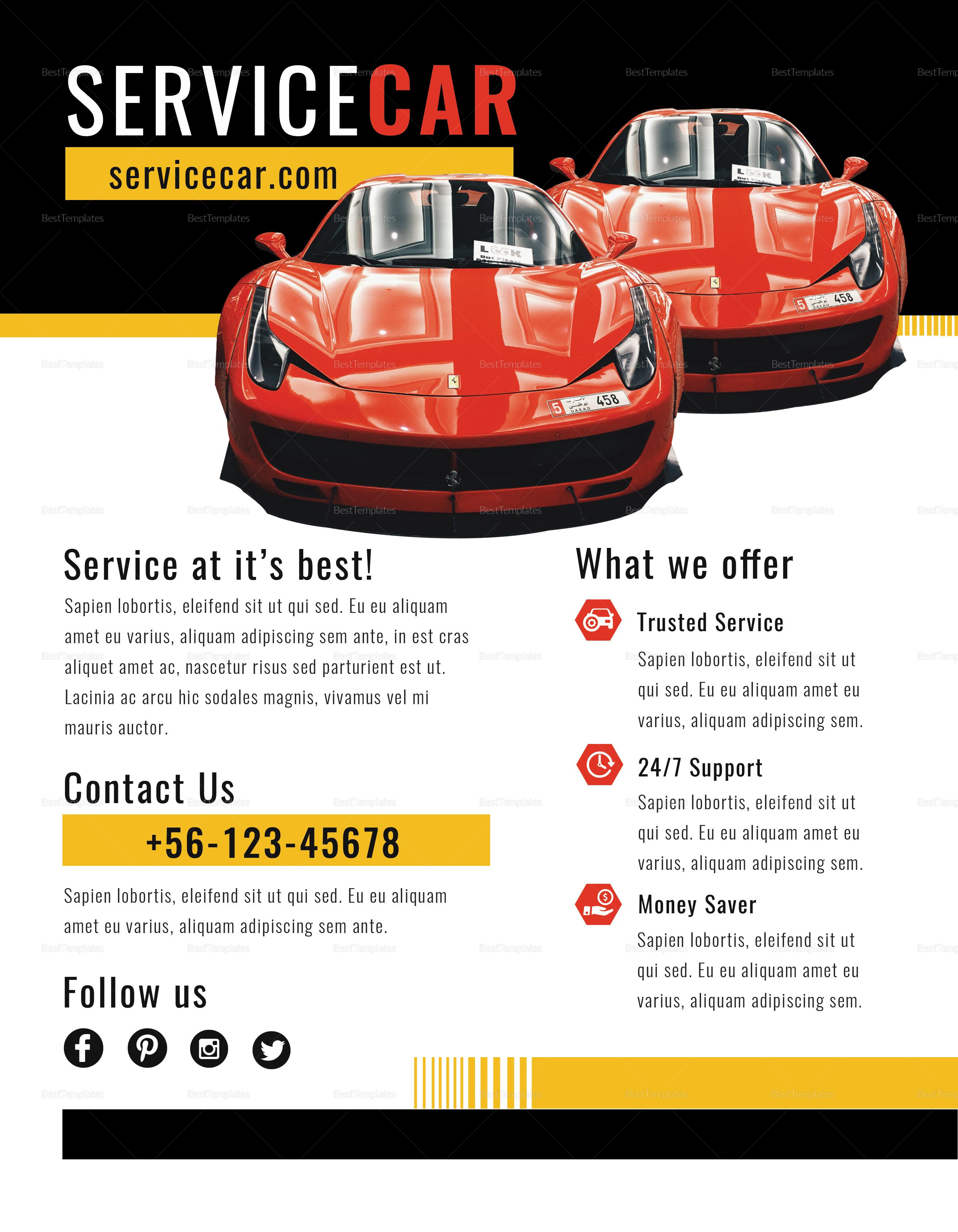 Service Car Flyer