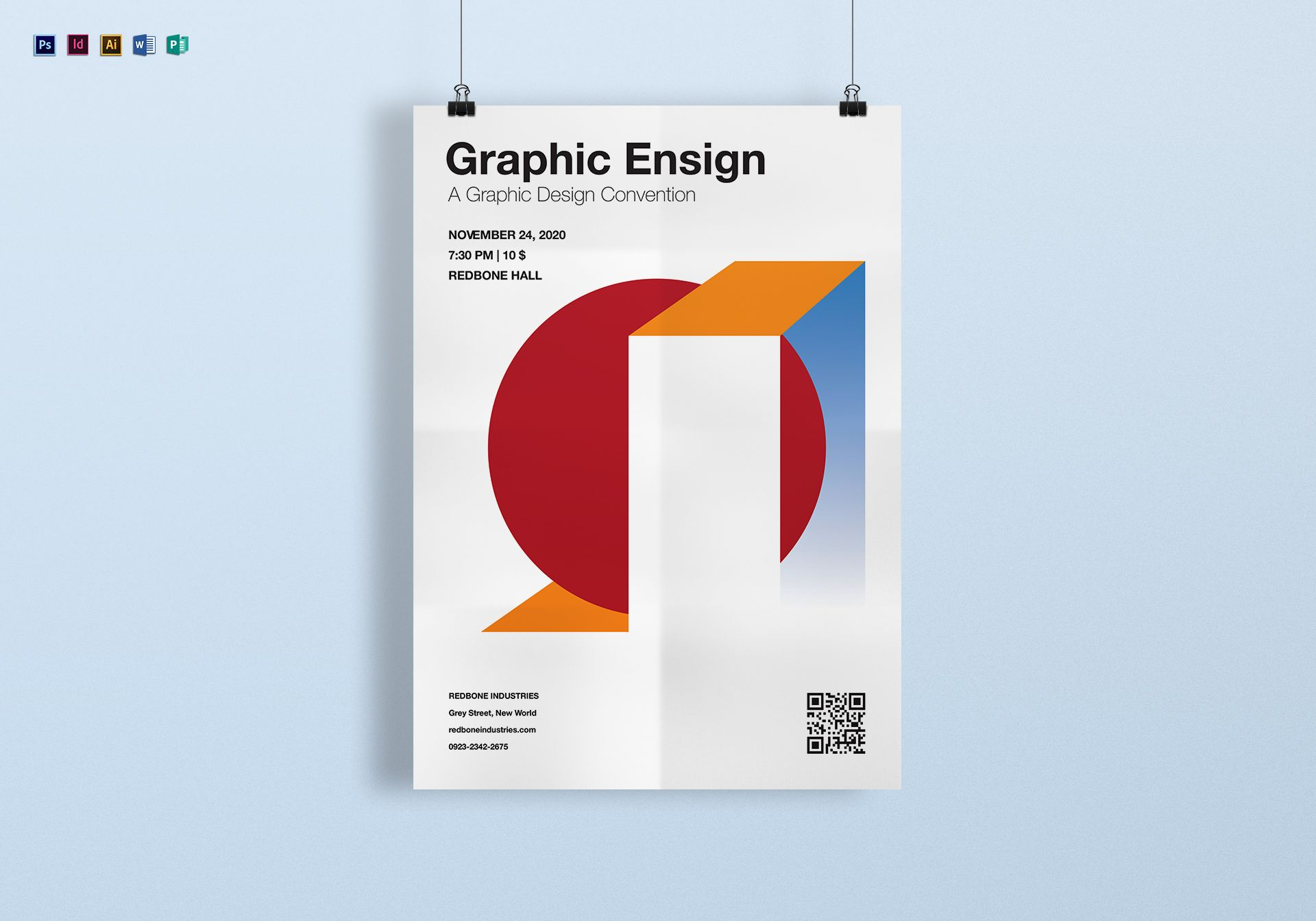 A4 Graphic Ensign Poster