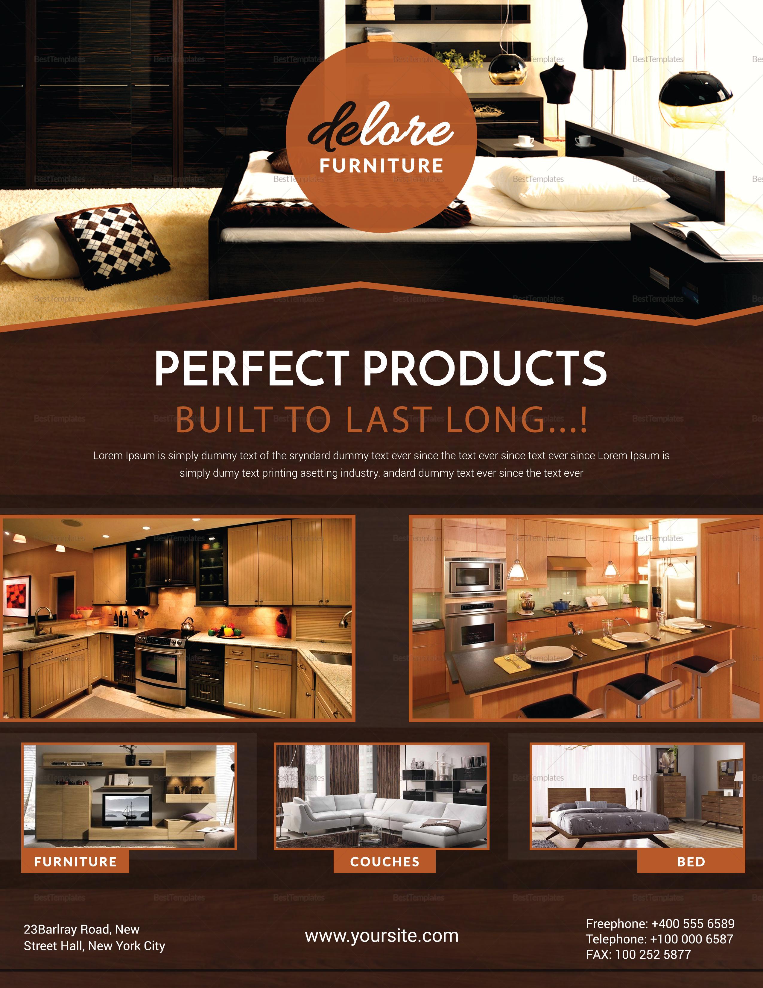 Beautiful Furniture Sale Flyer Template