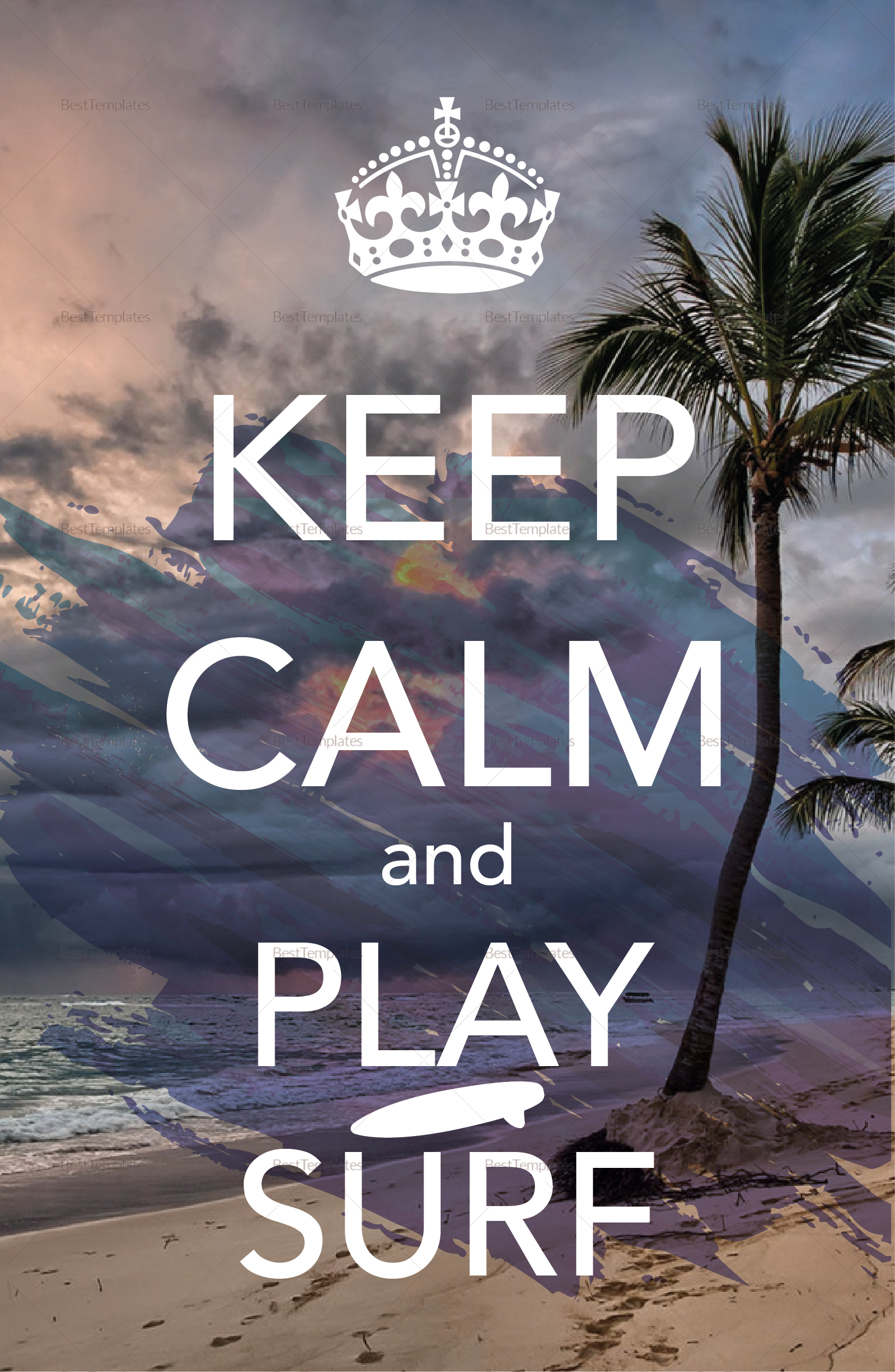 Keep Calm and Surf Poster