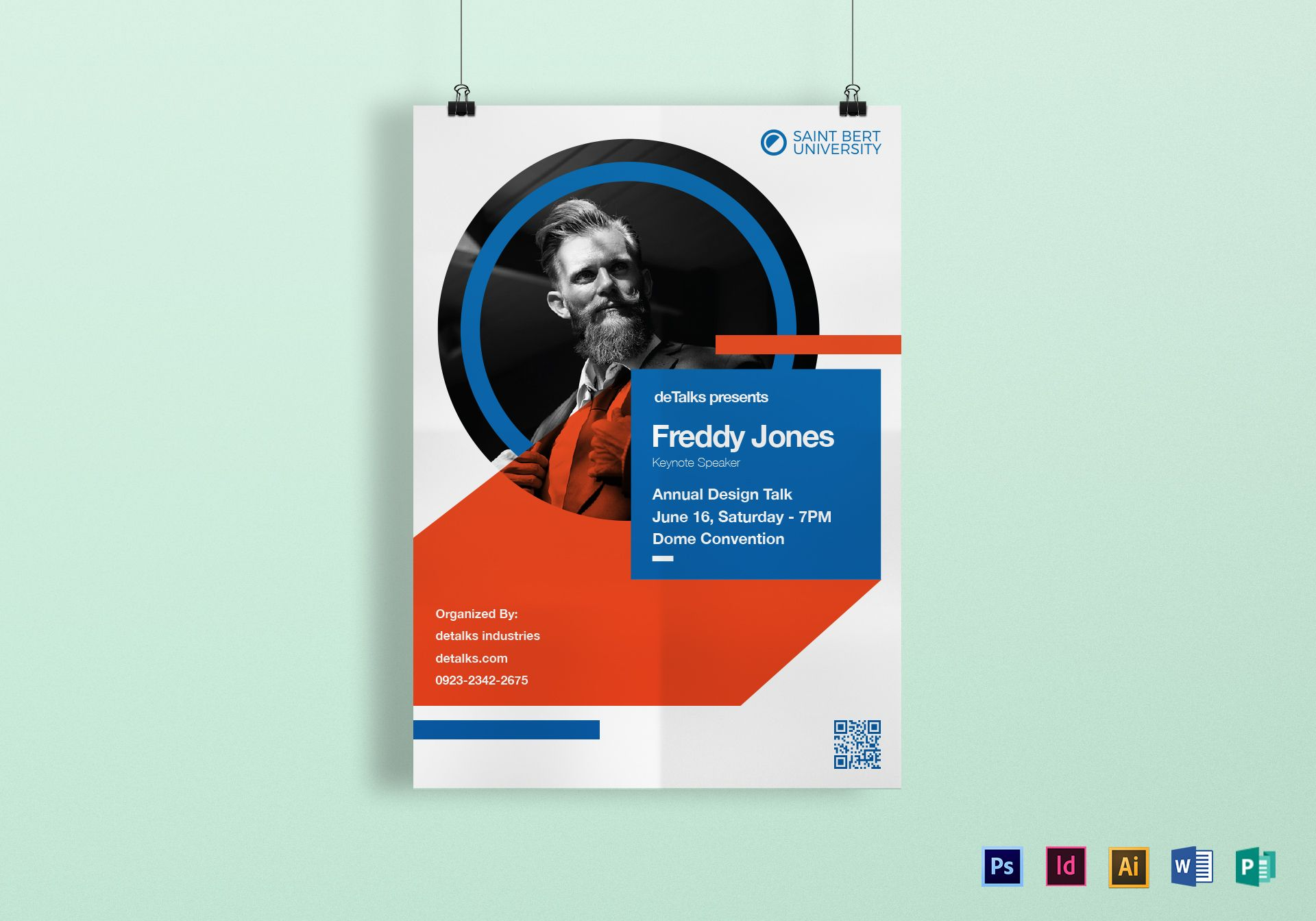 keynote speaker poster design template in psd word publisher