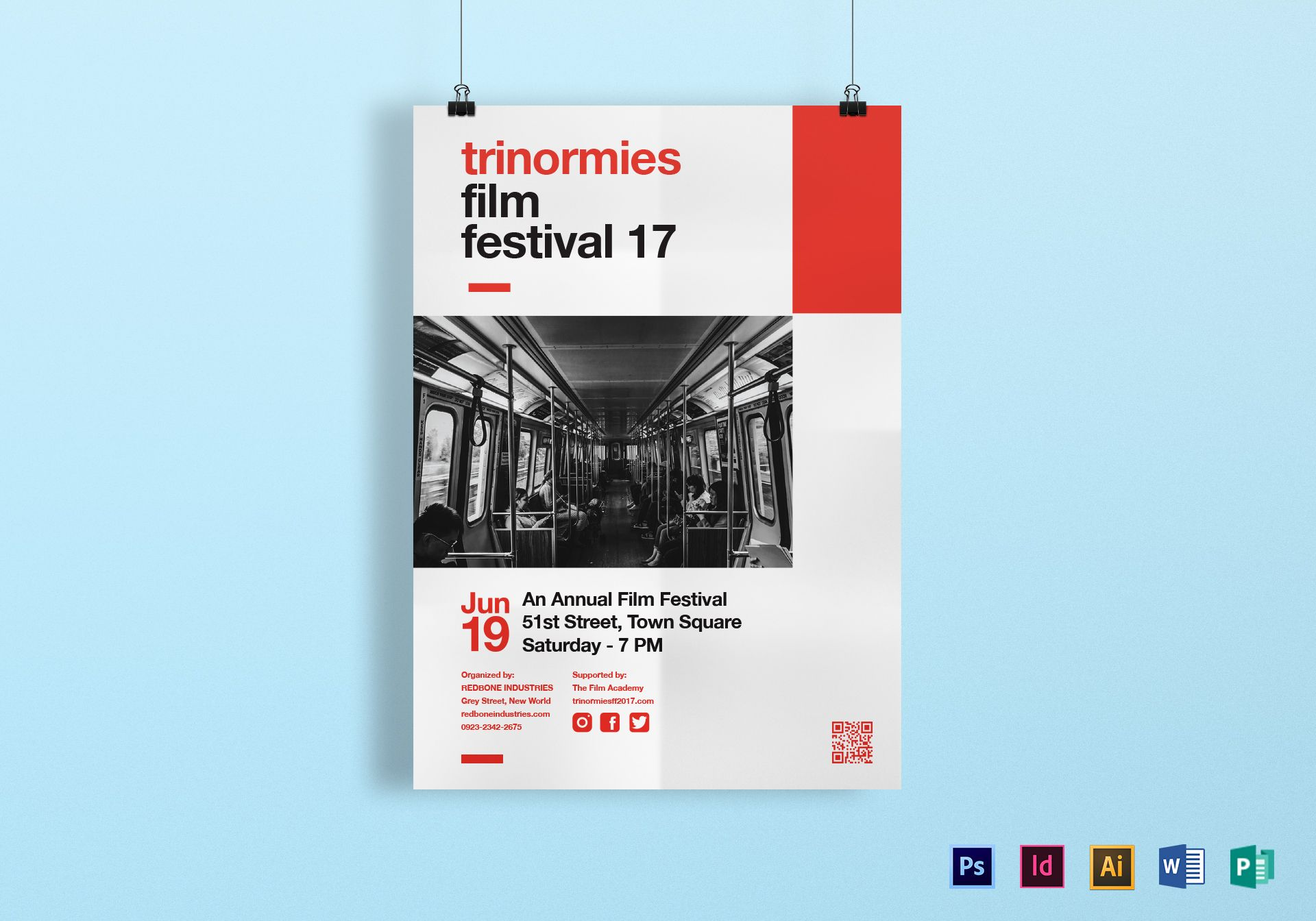 Film Festival Poster Design Template In PSD Word Publisher